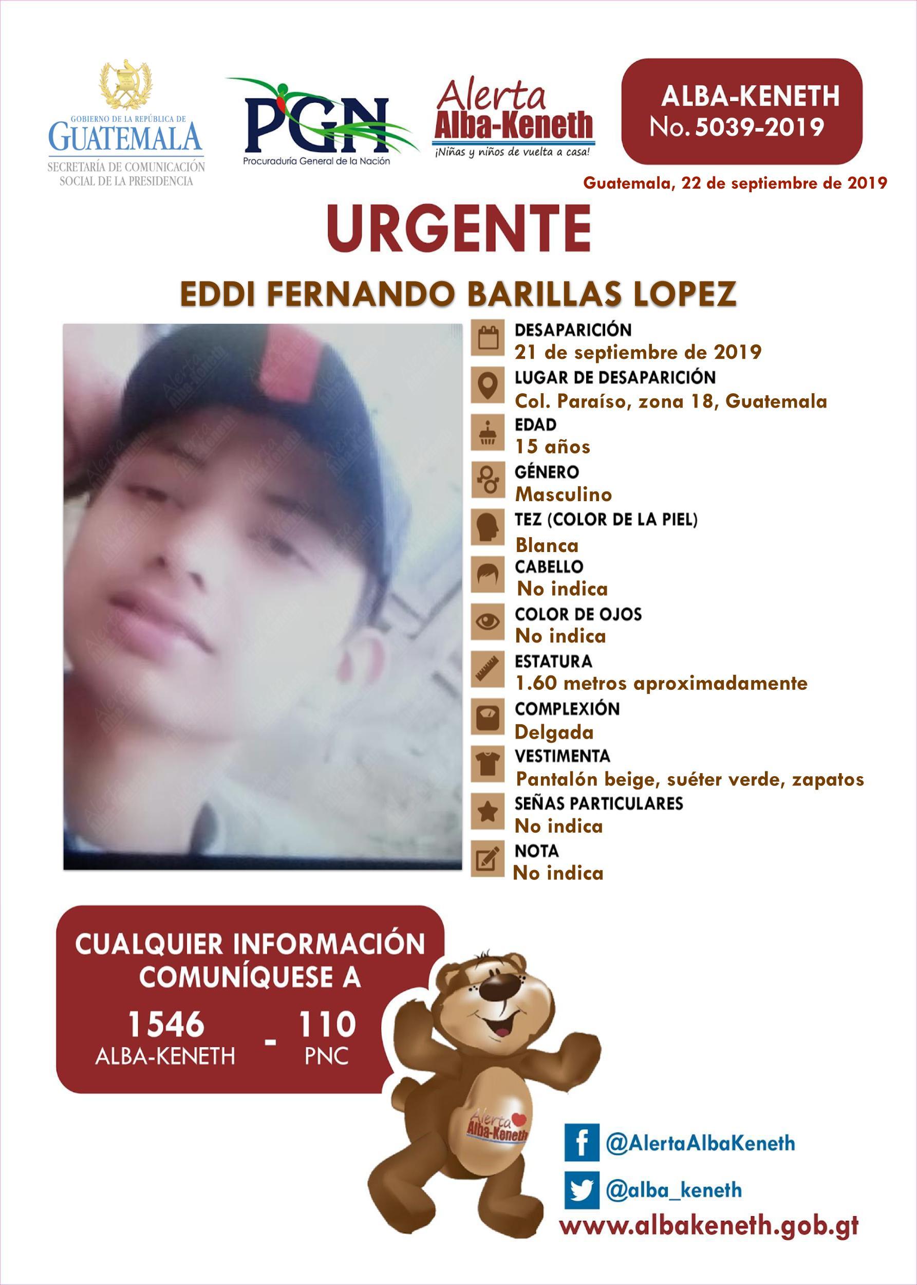 Eddi Fernando Barillas Lopez
