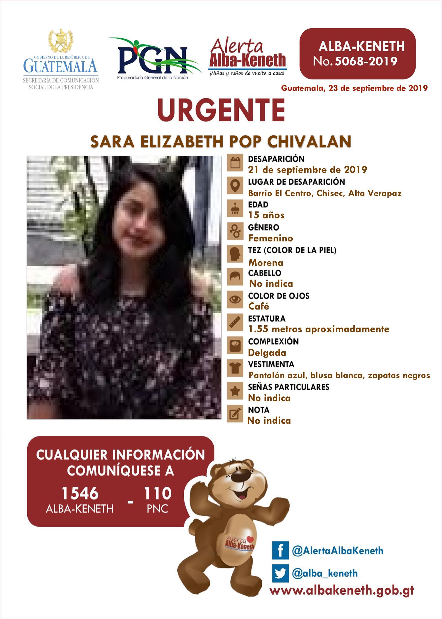 Sara Elizabeth Pop Chivalan