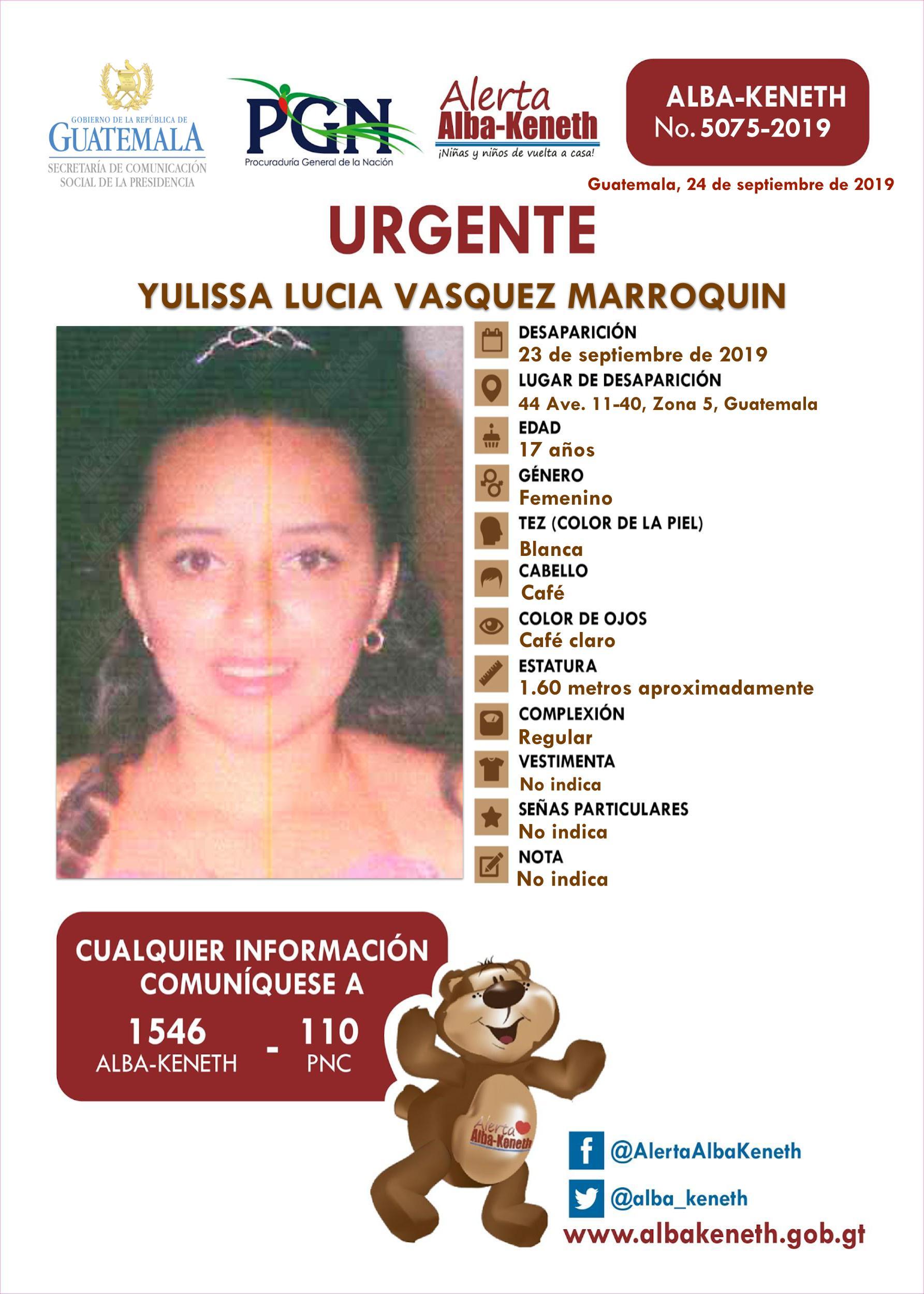 Yulissa Lucia Vasquez Marroquin
