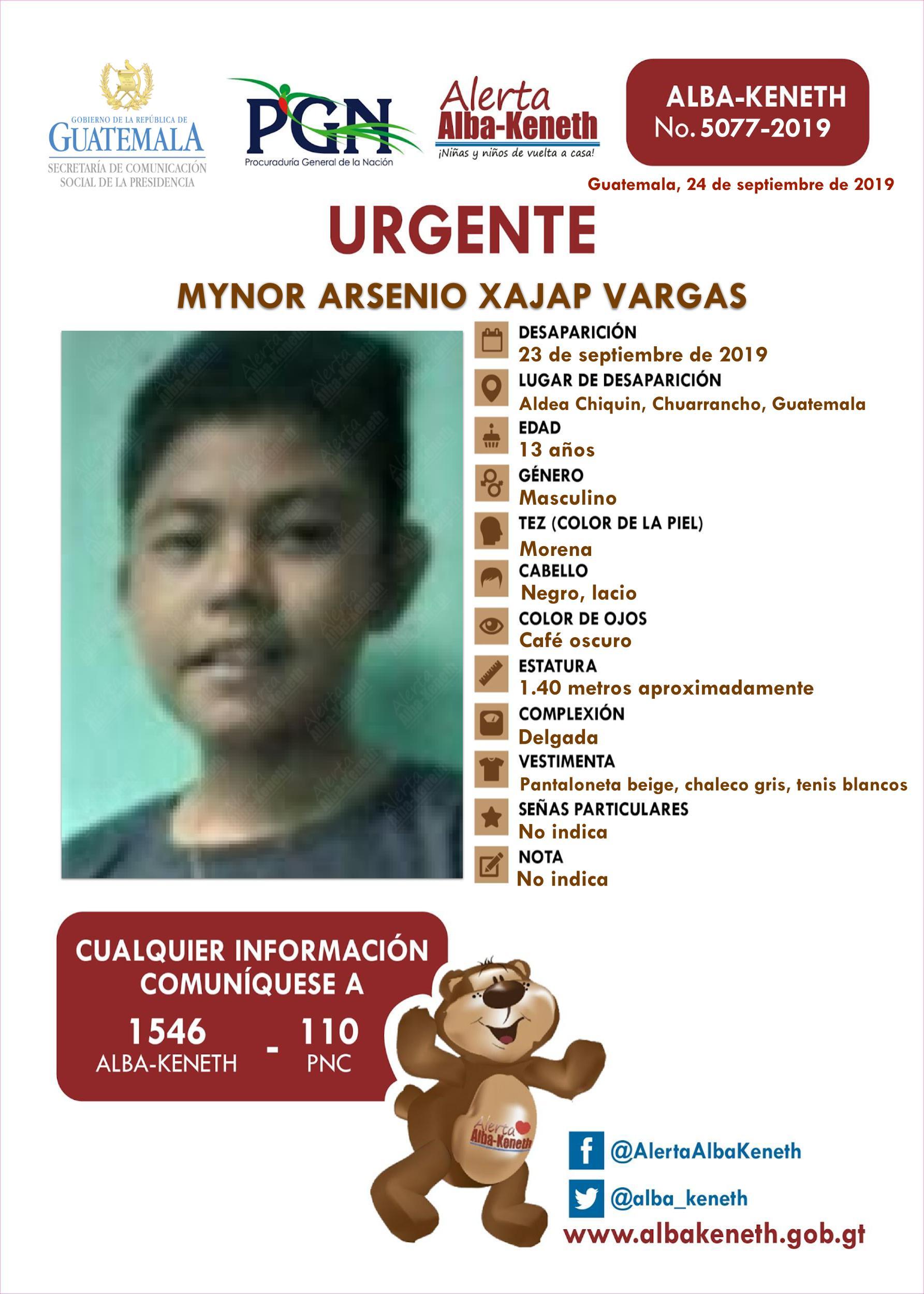 Mynor Arsenio Xajap Vargas