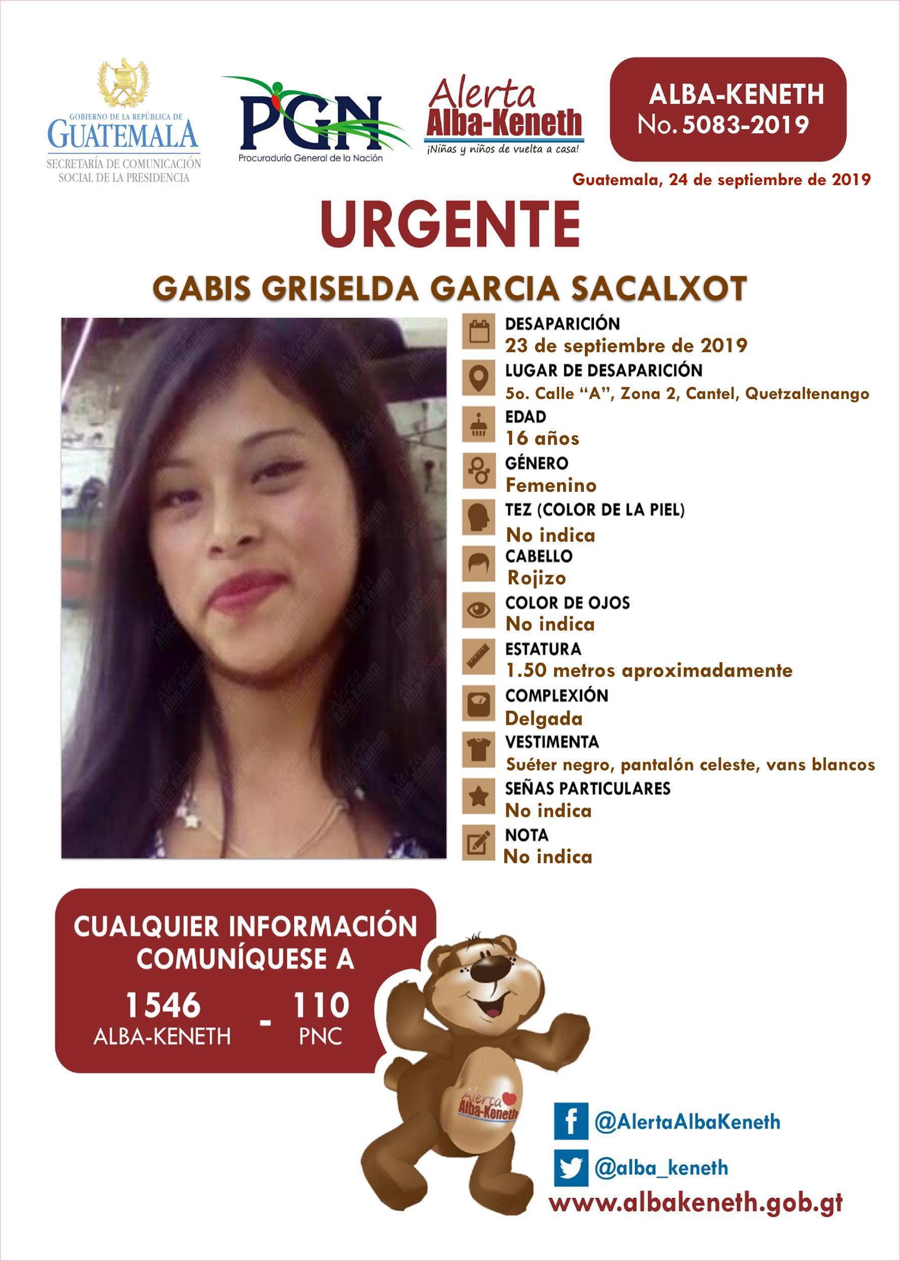Gabis Griselda Garcia Sacalxot