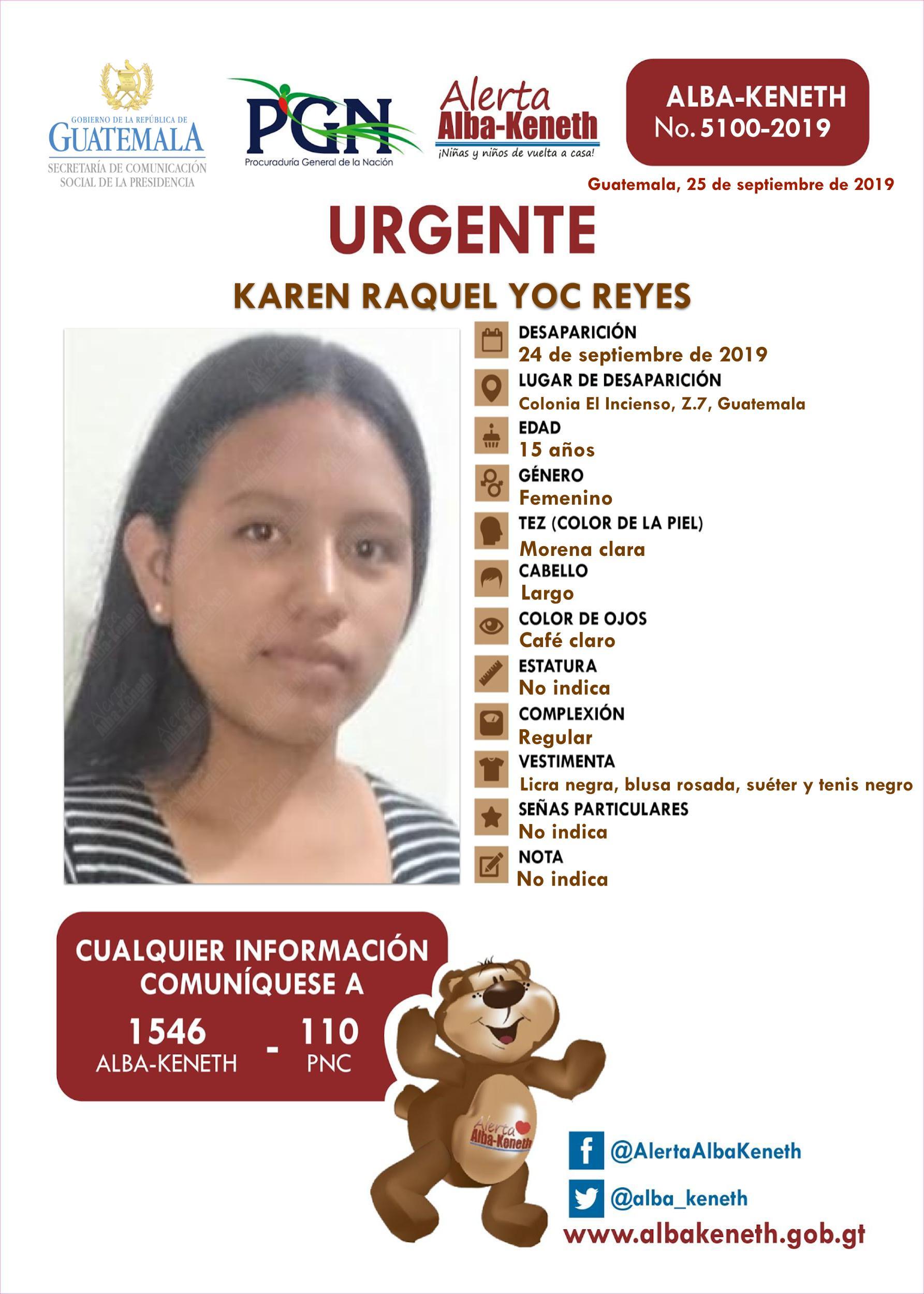 Karen Raquel Yoc Reyes