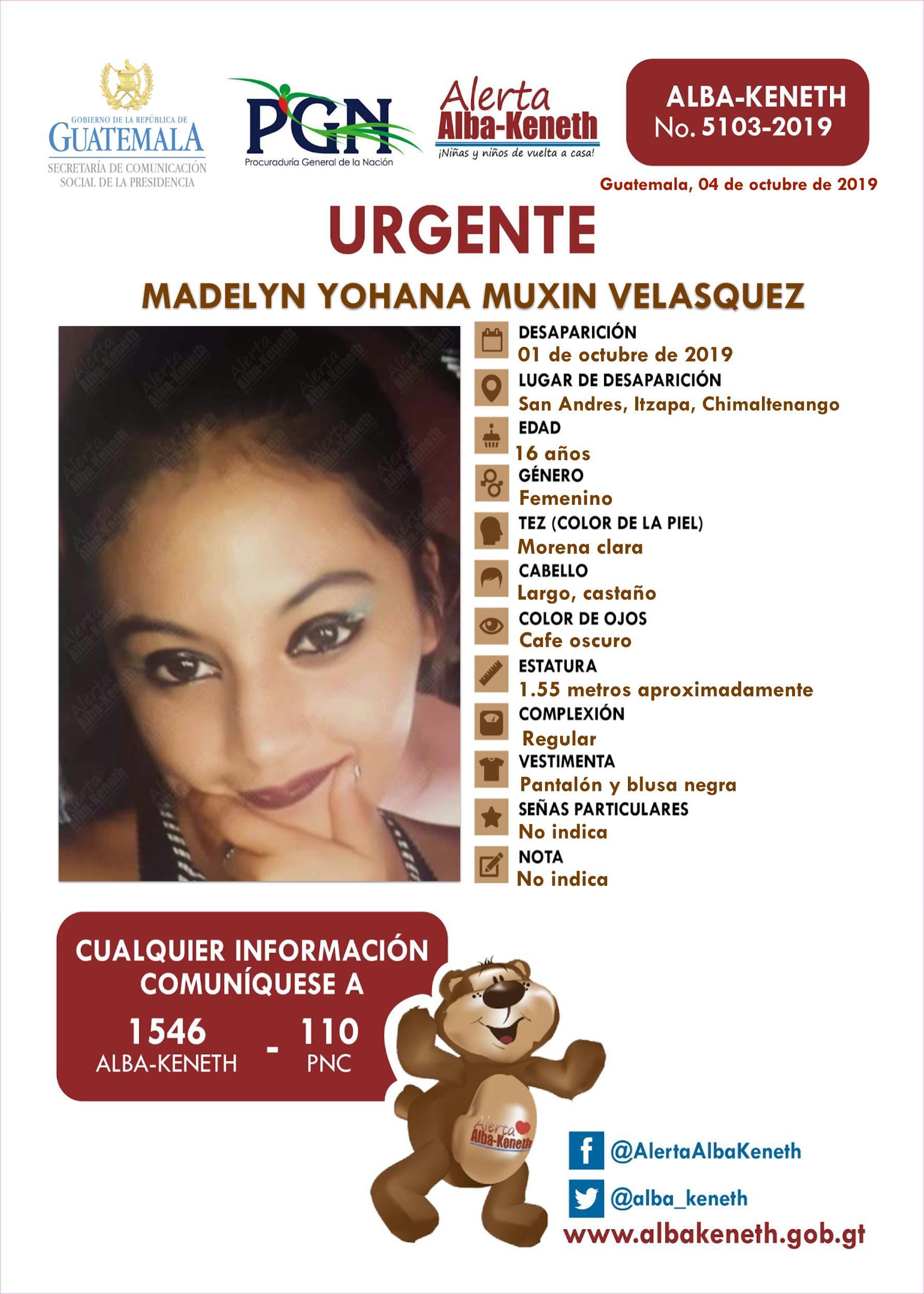 Madelyn Yohana Muxin Velasquez