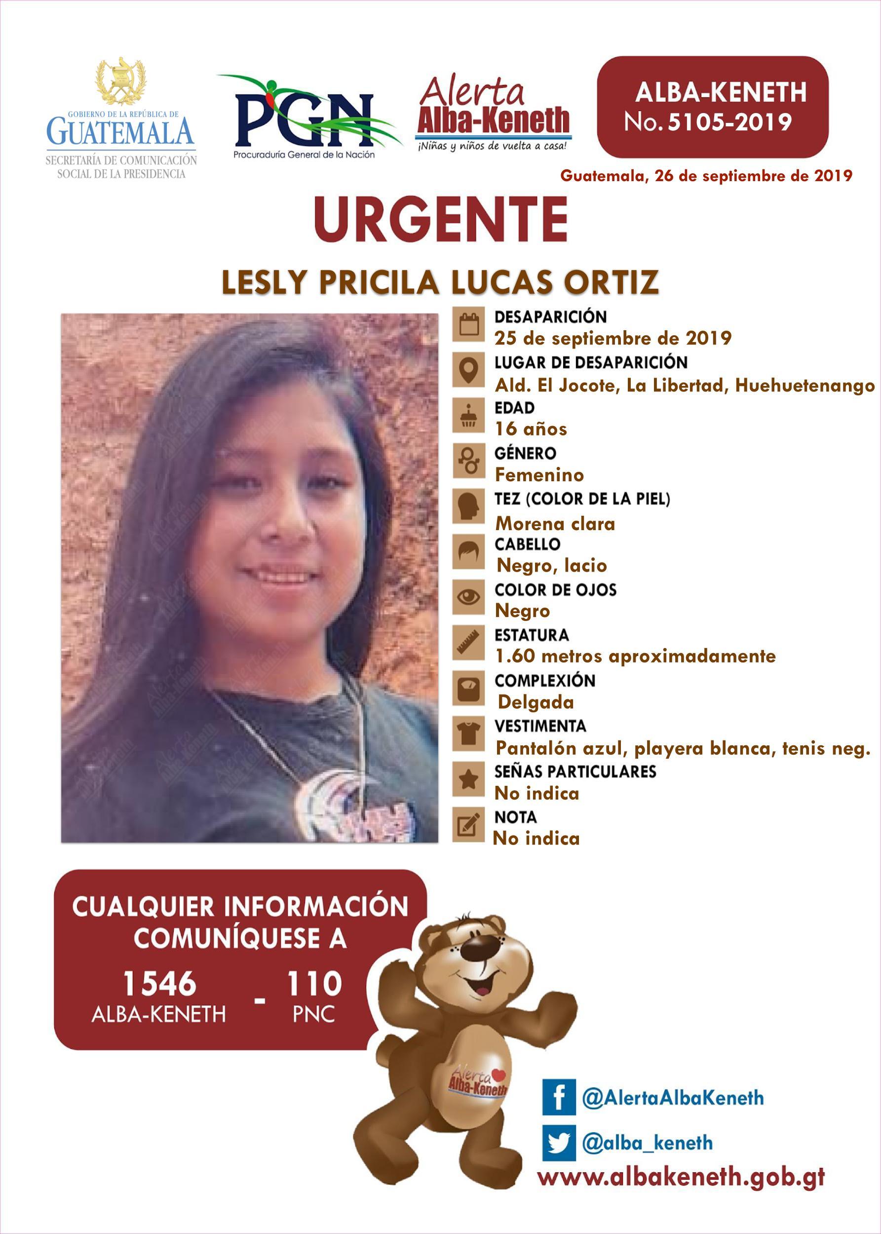 Lesly Pricila Lucas Ortiz