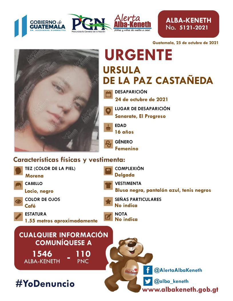 Ursula De La Paz Castañeda