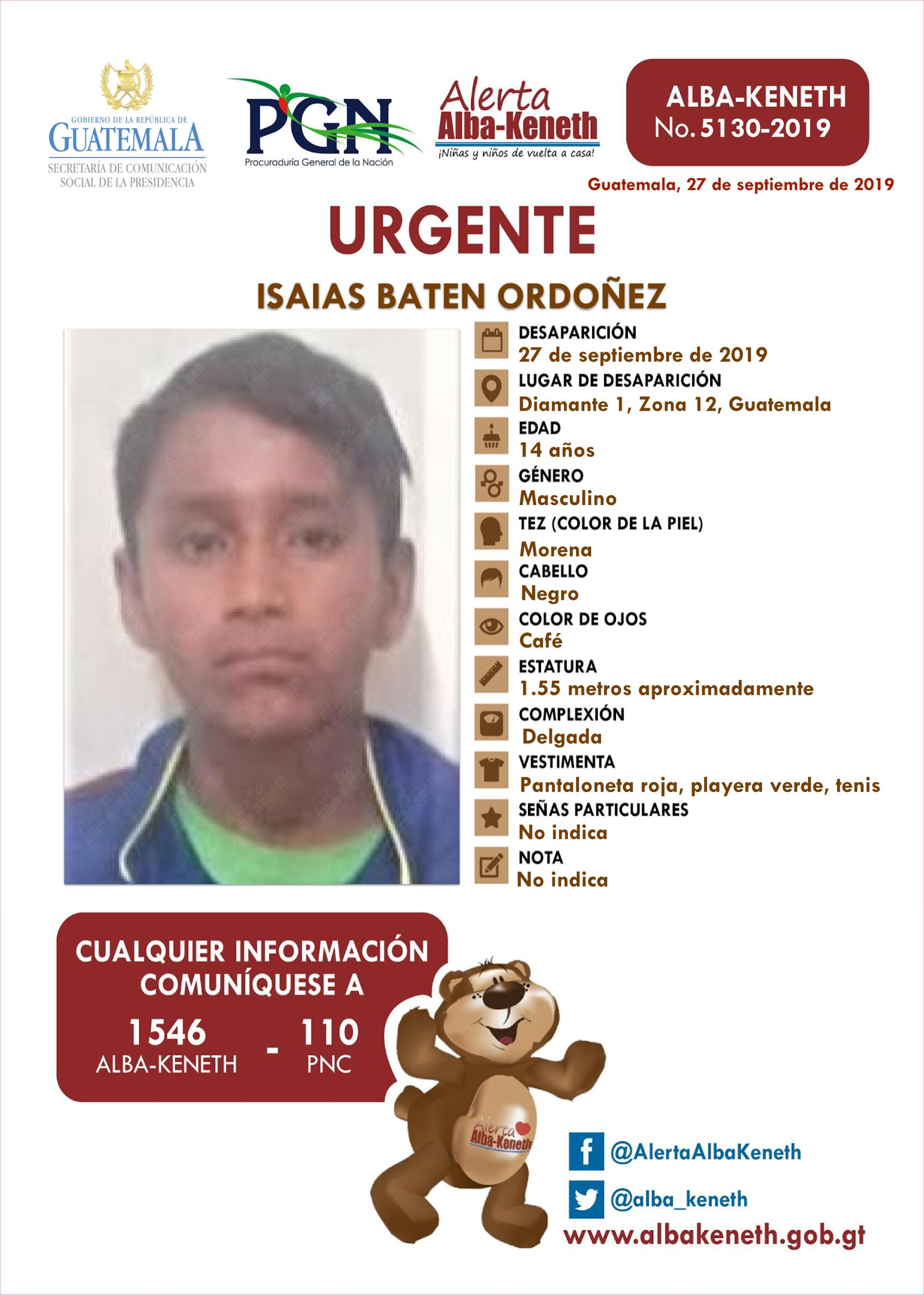 Isaias Baten Ordoñez