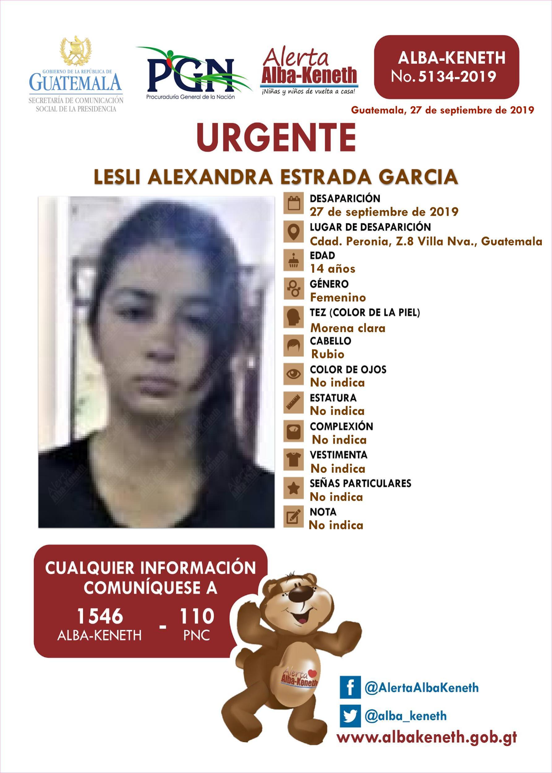 Lesli Alexandra Estrada Garcia