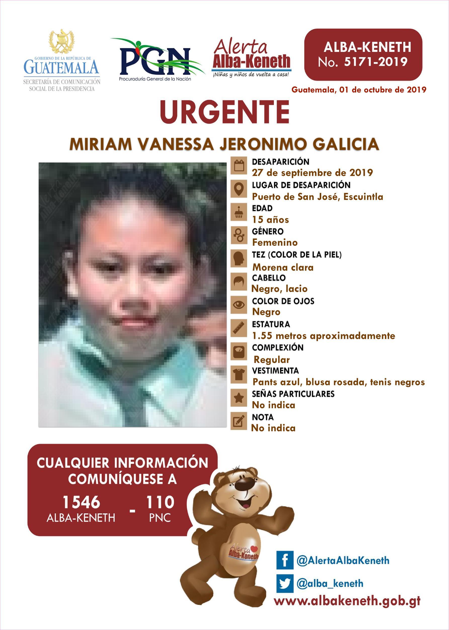 Miriam Vanessa Jeronimo Galicia
