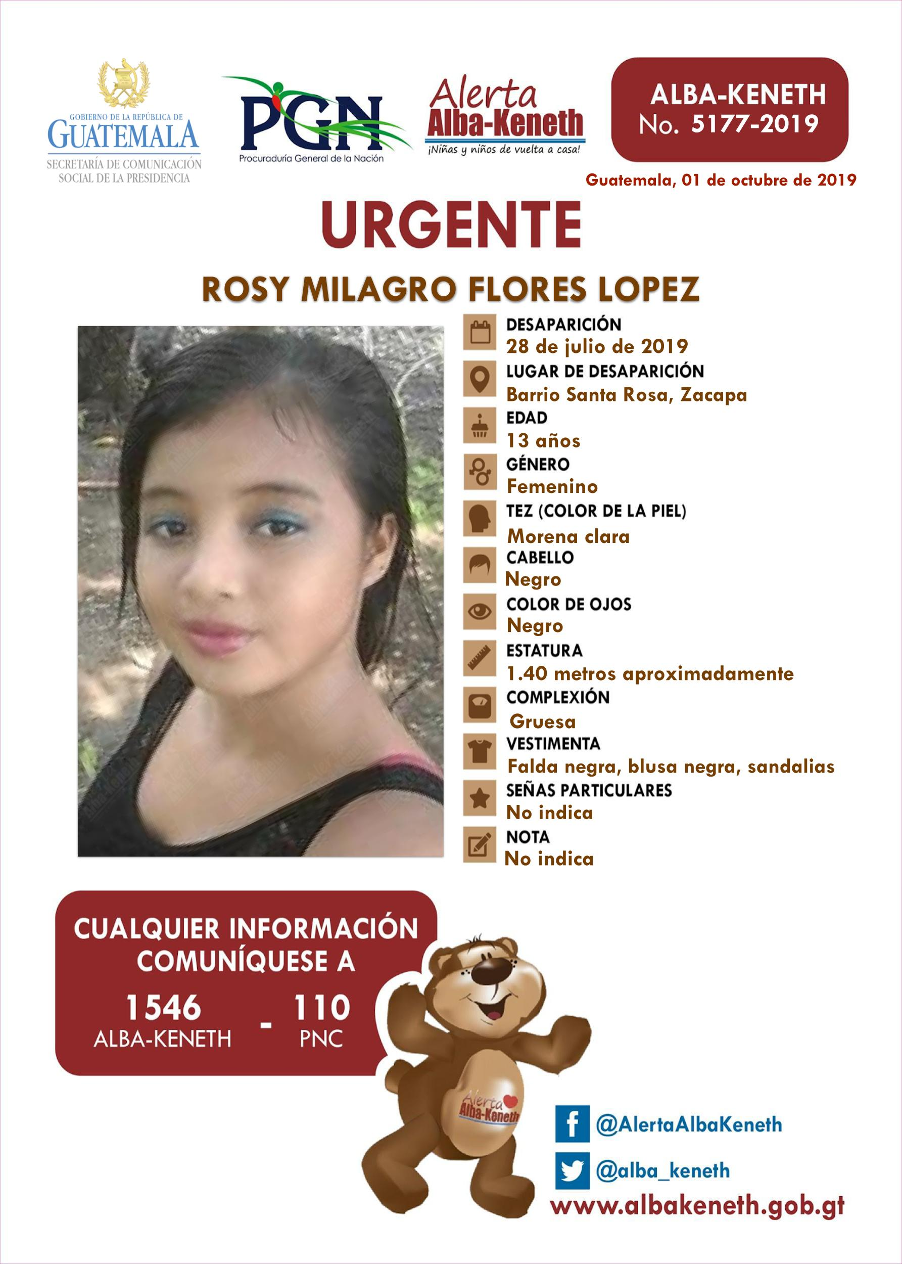 Rosy Milagro Flores Lopez