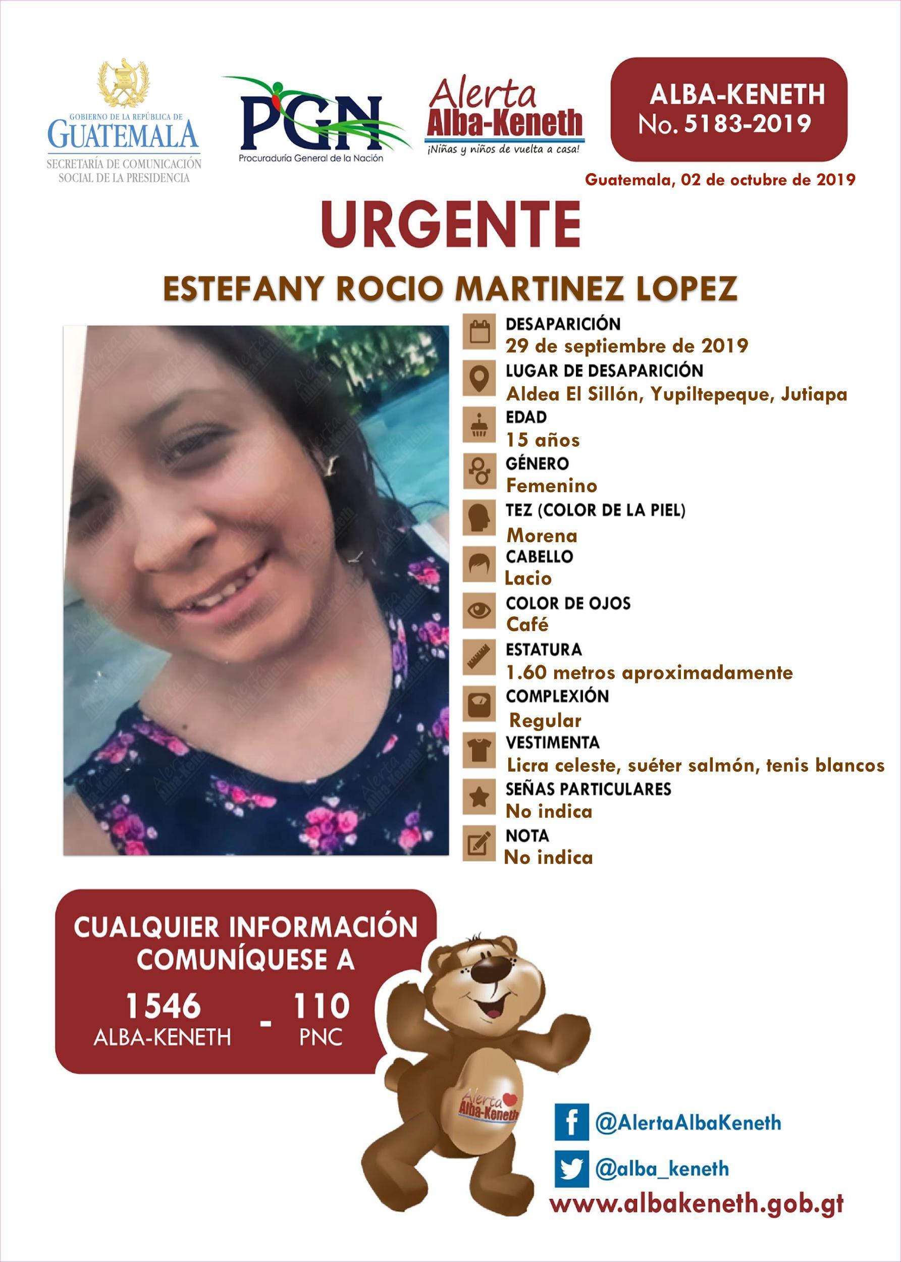 Estefany Rocio Martinez Lopez