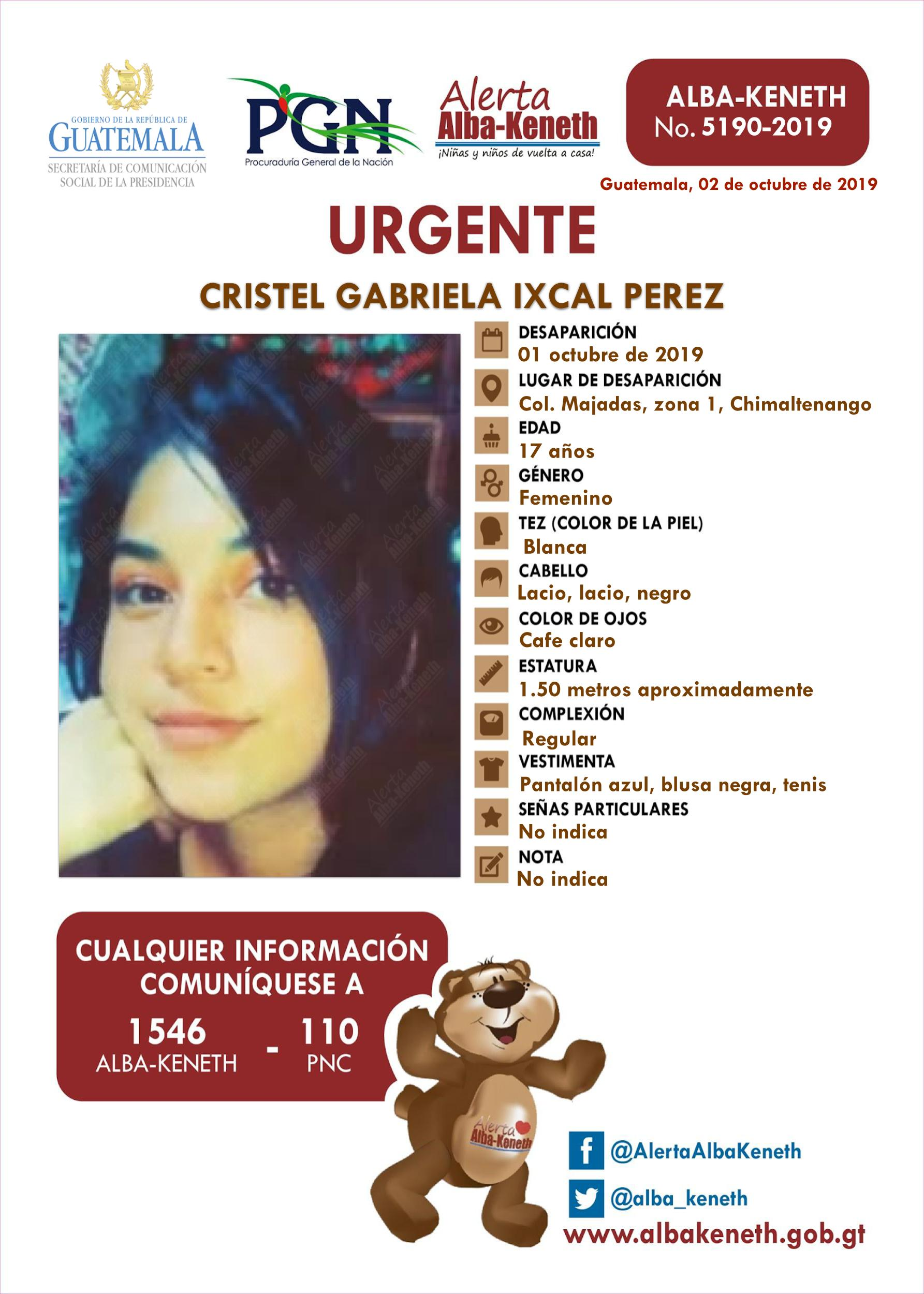 Cristel Gabriela Ixcal Perez