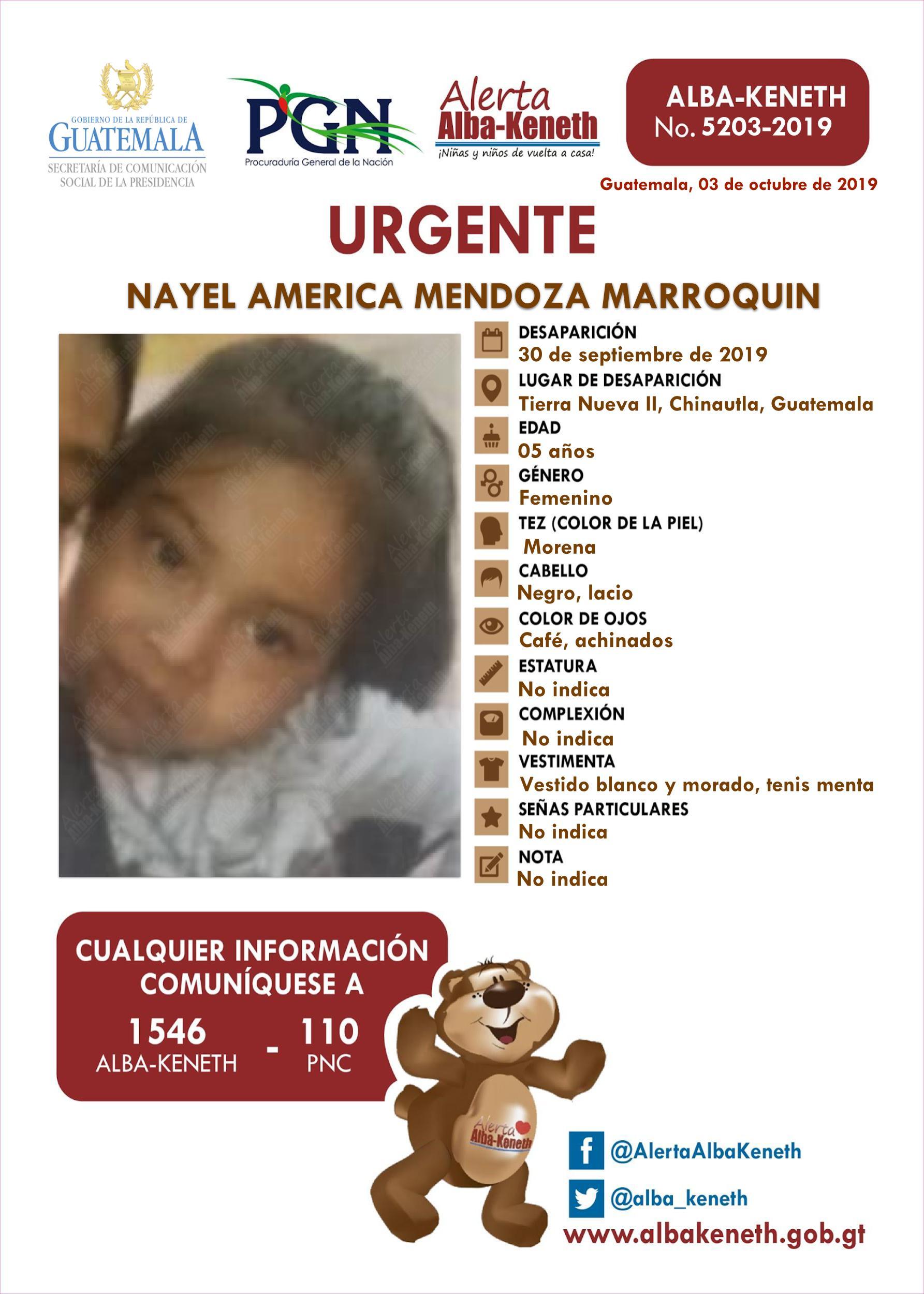 Nayel America Mendoza Marroquin