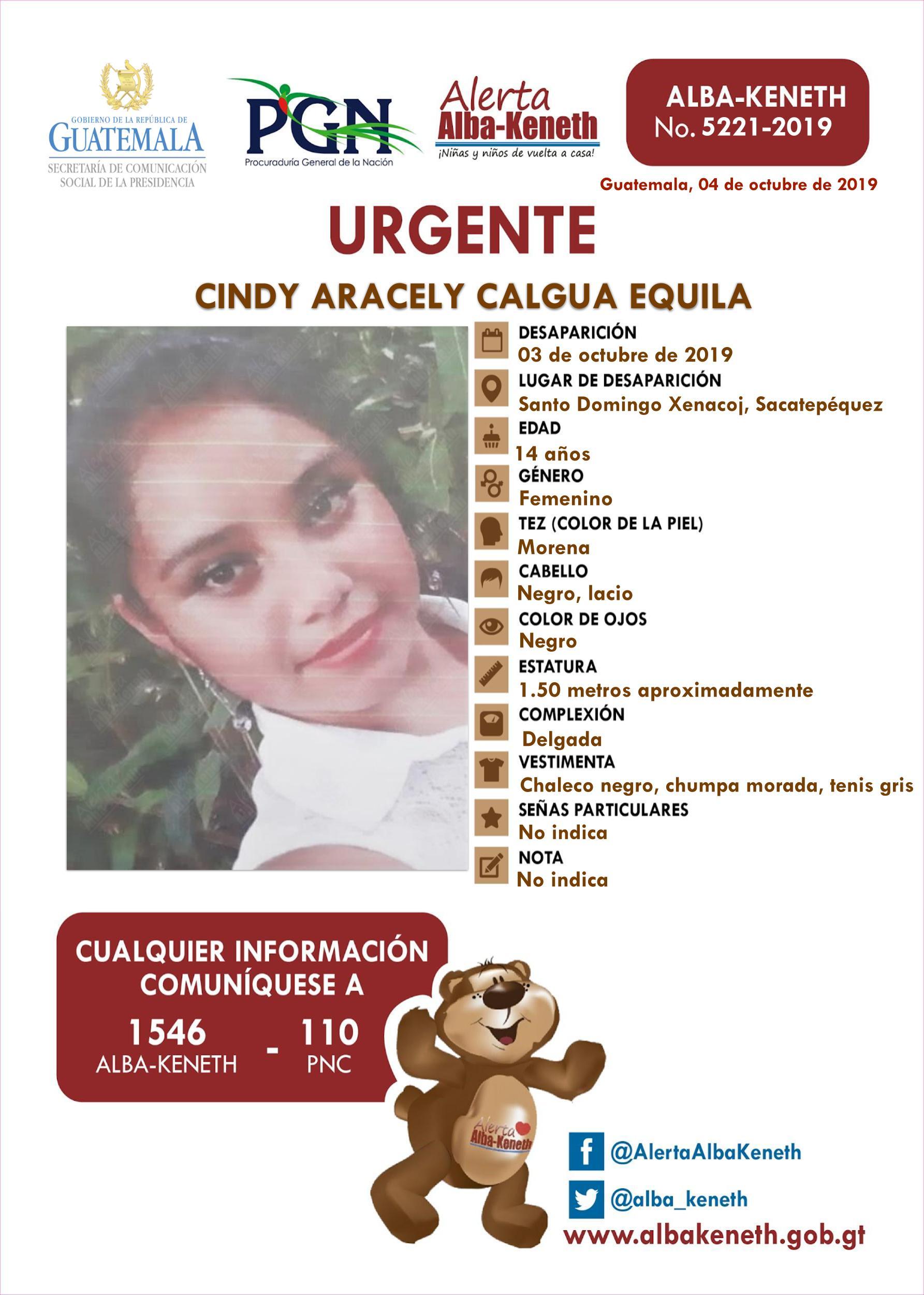 Cindy Aracely Calgua Equila