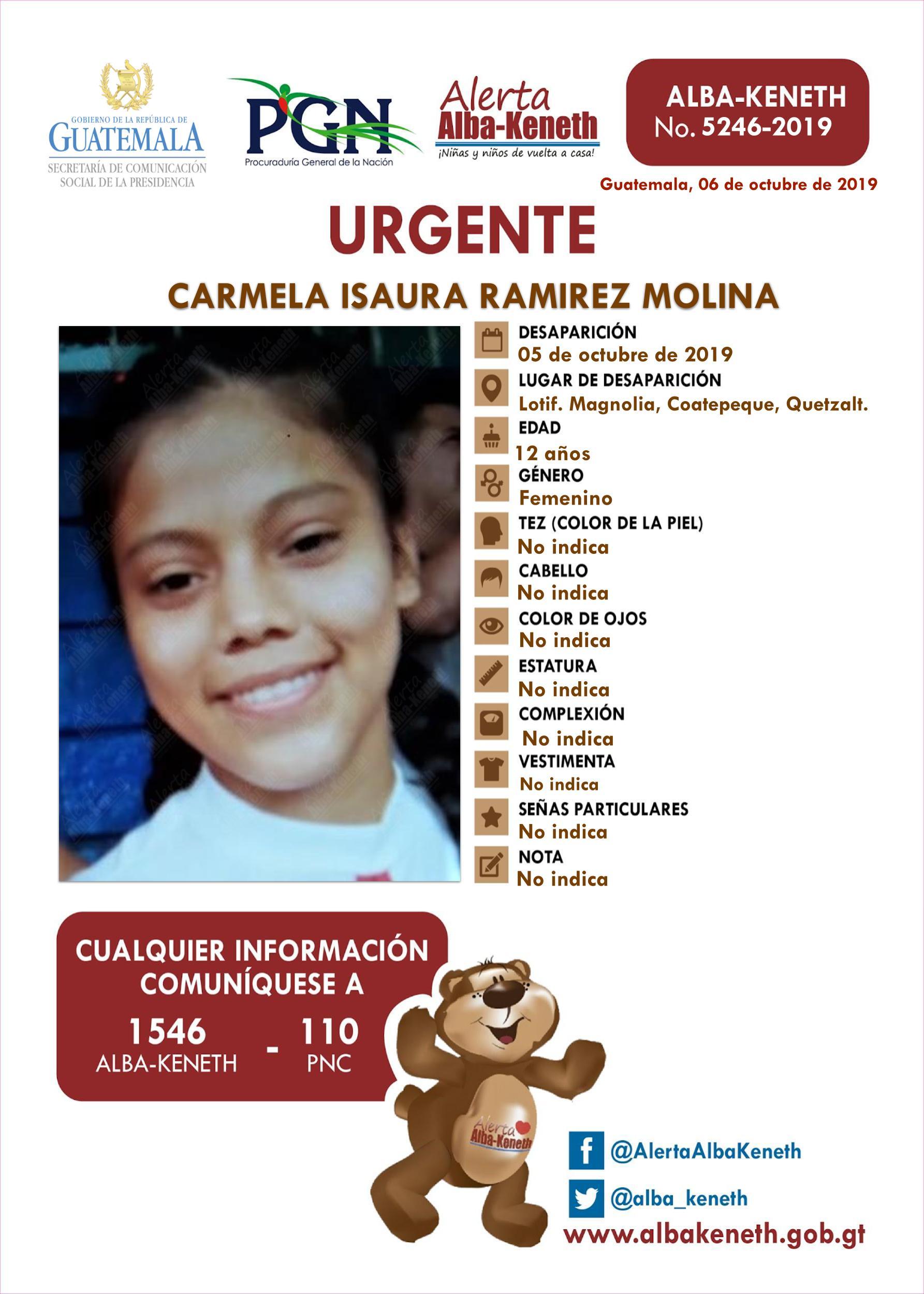 Carmela Isaura Ramirez Molina