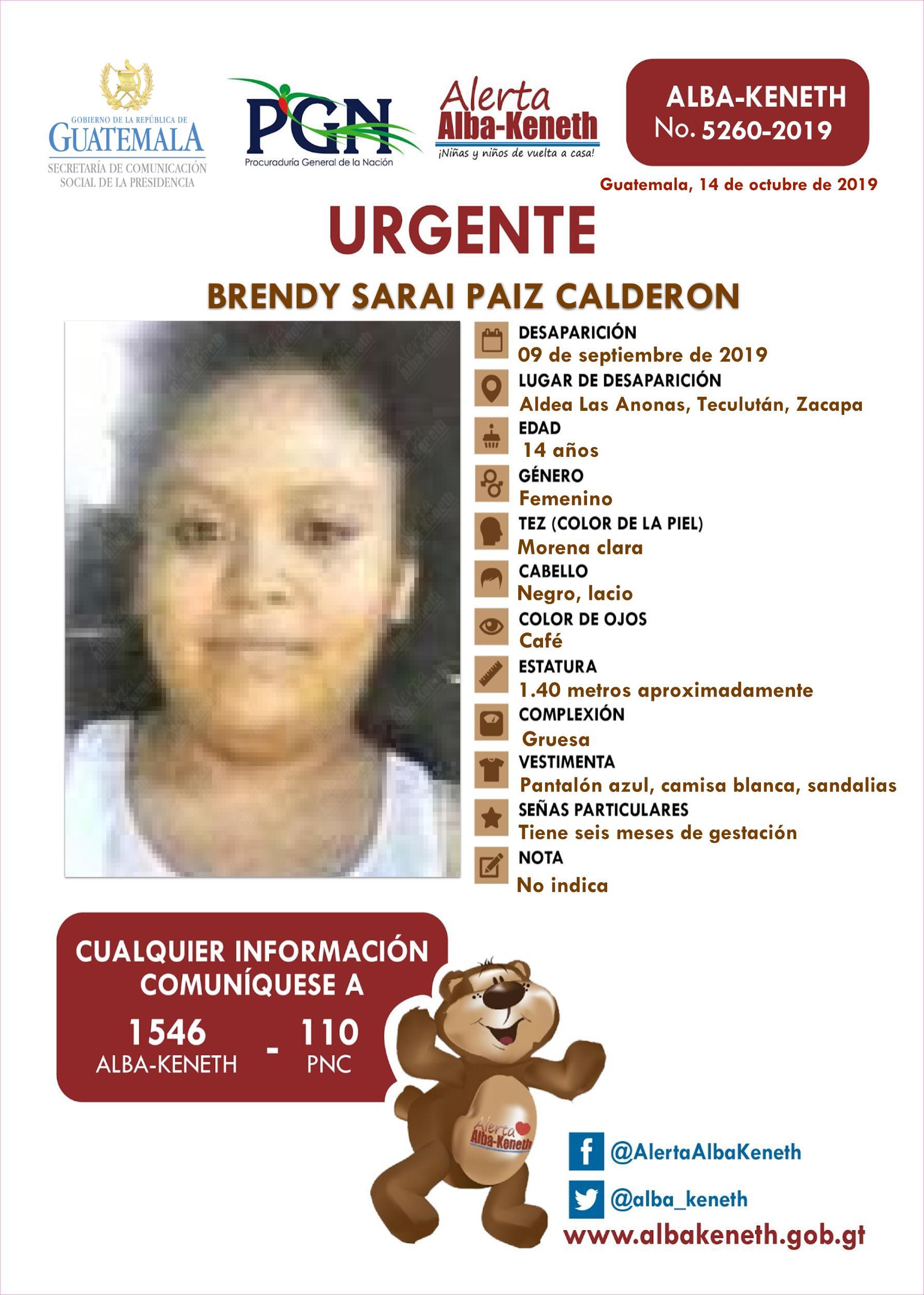 Brendy Sarai Paiz Calderon