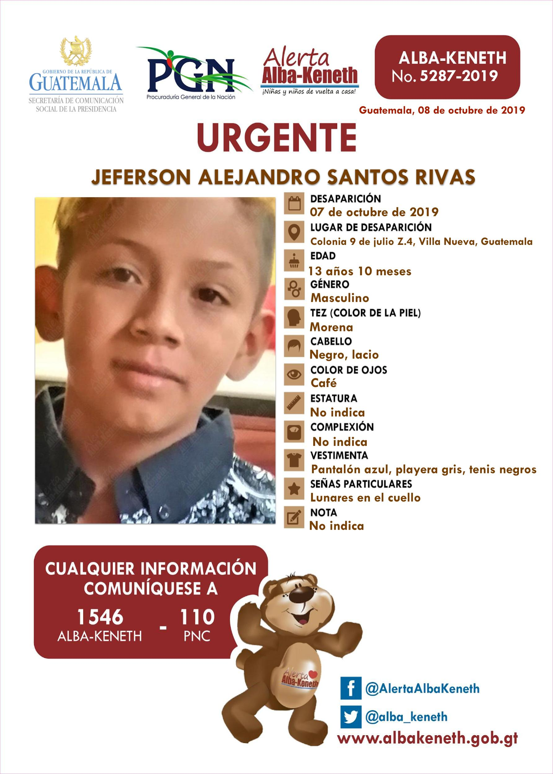 Jeferson Alejandro Santos Rivas