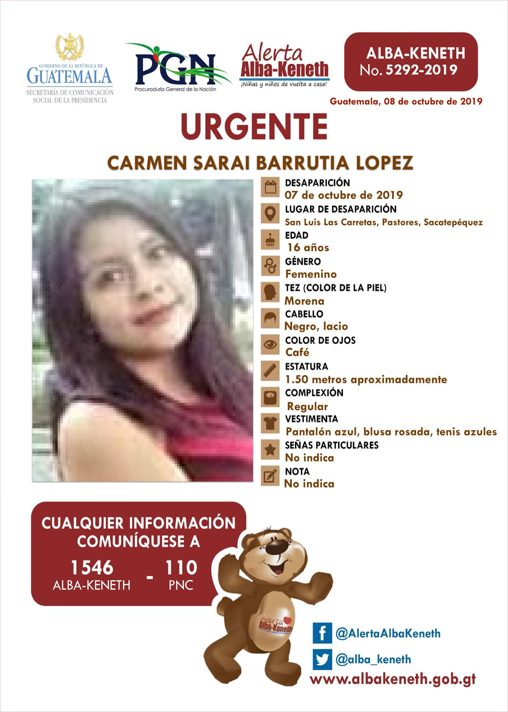 Carmen Sarai Barrutia Lopez