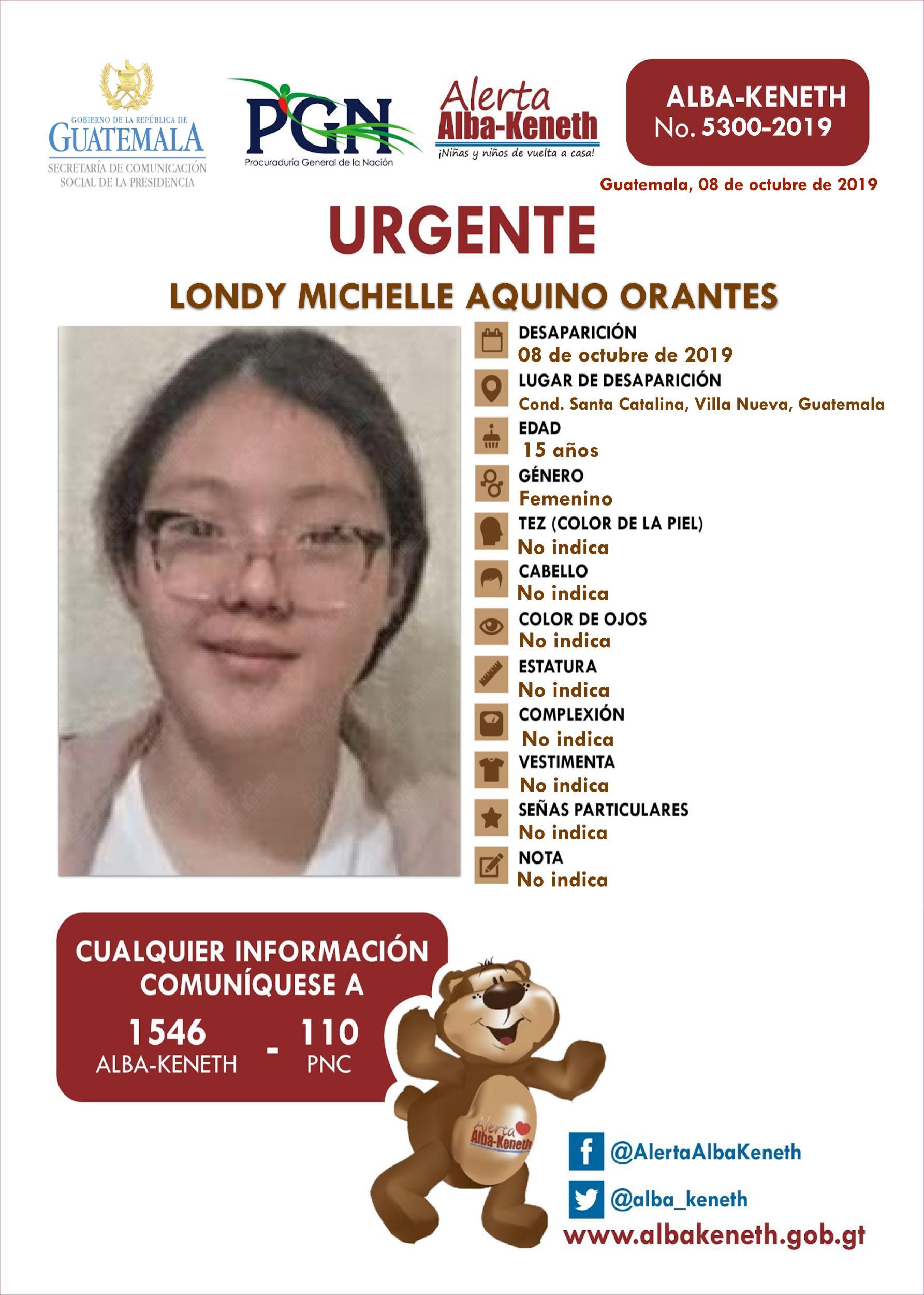 Londy Michelle Aquino Orantes