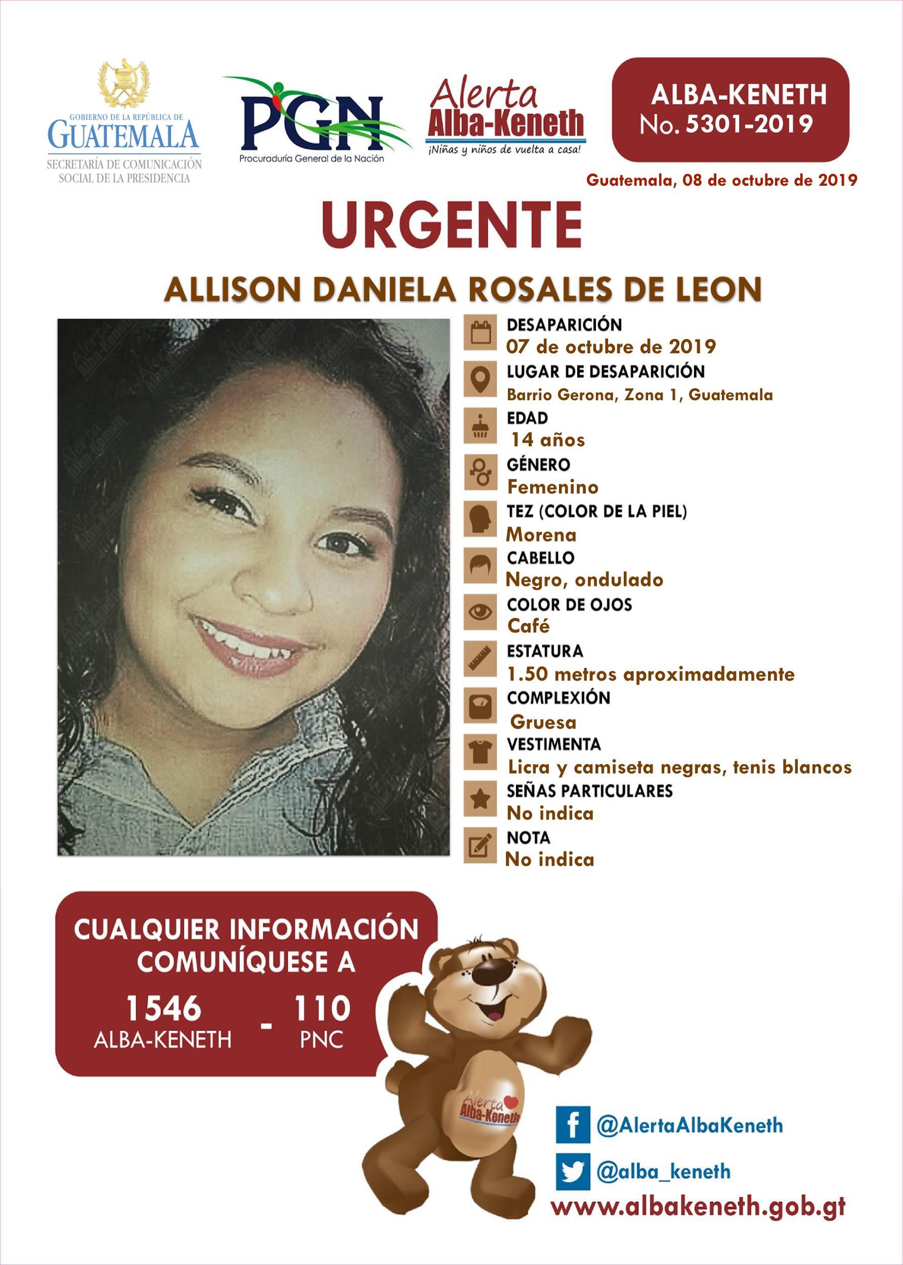 Allison Daniela Rosales de Leon