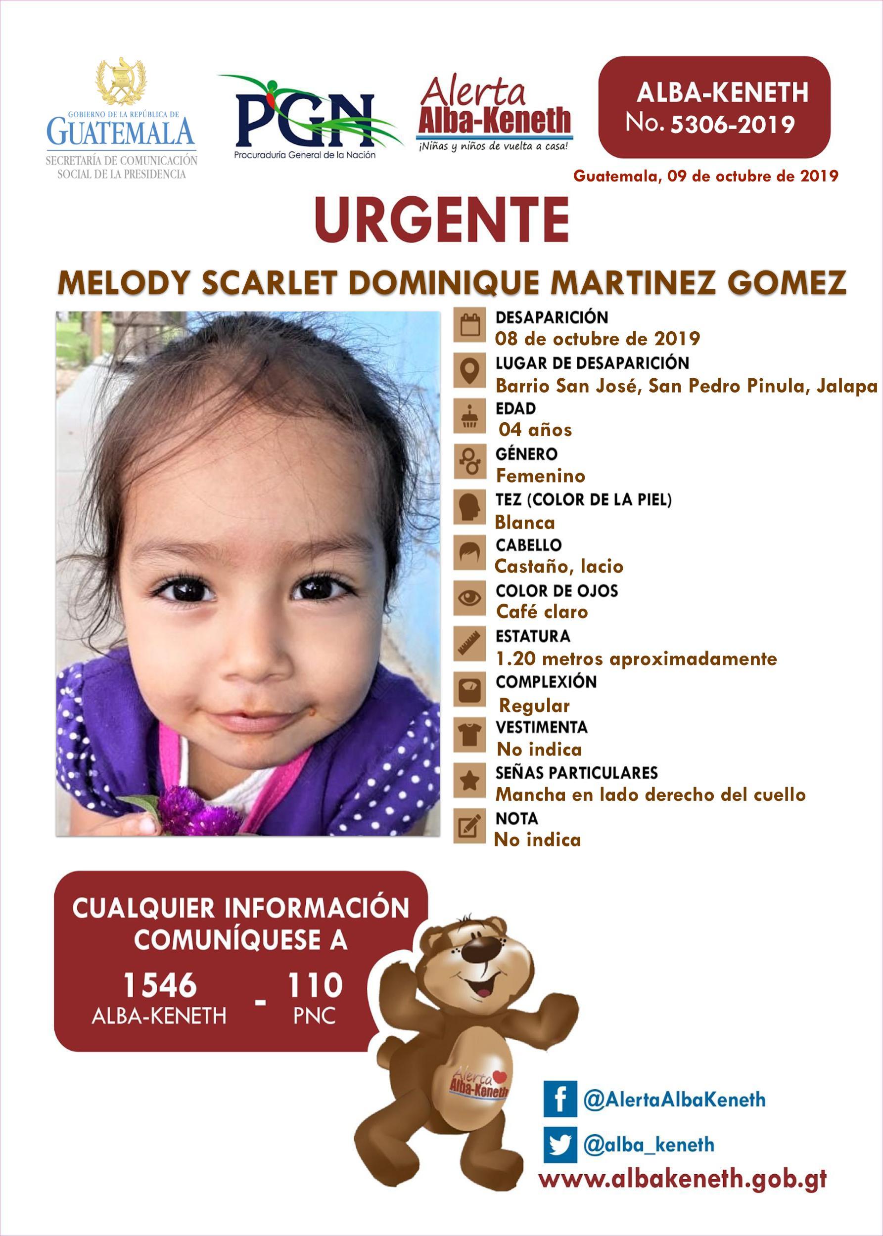 Melody Scarlet Dominique Martinez Gomez
