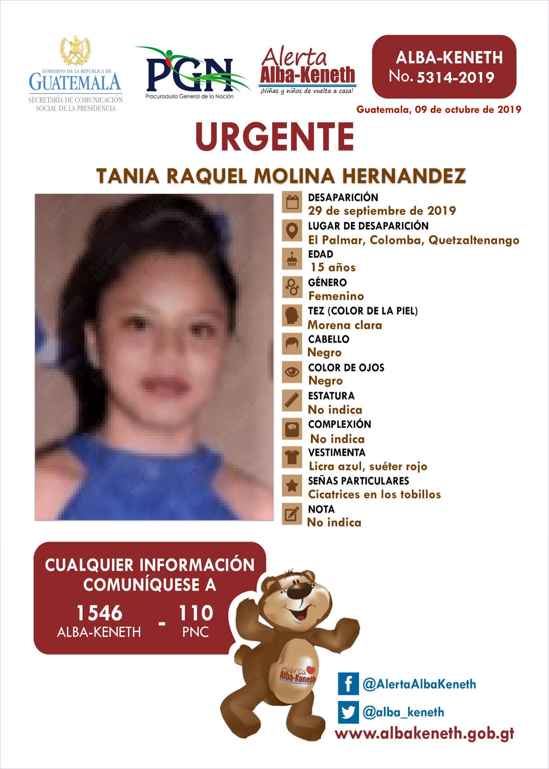 Tania Raquel Molina Hernandez