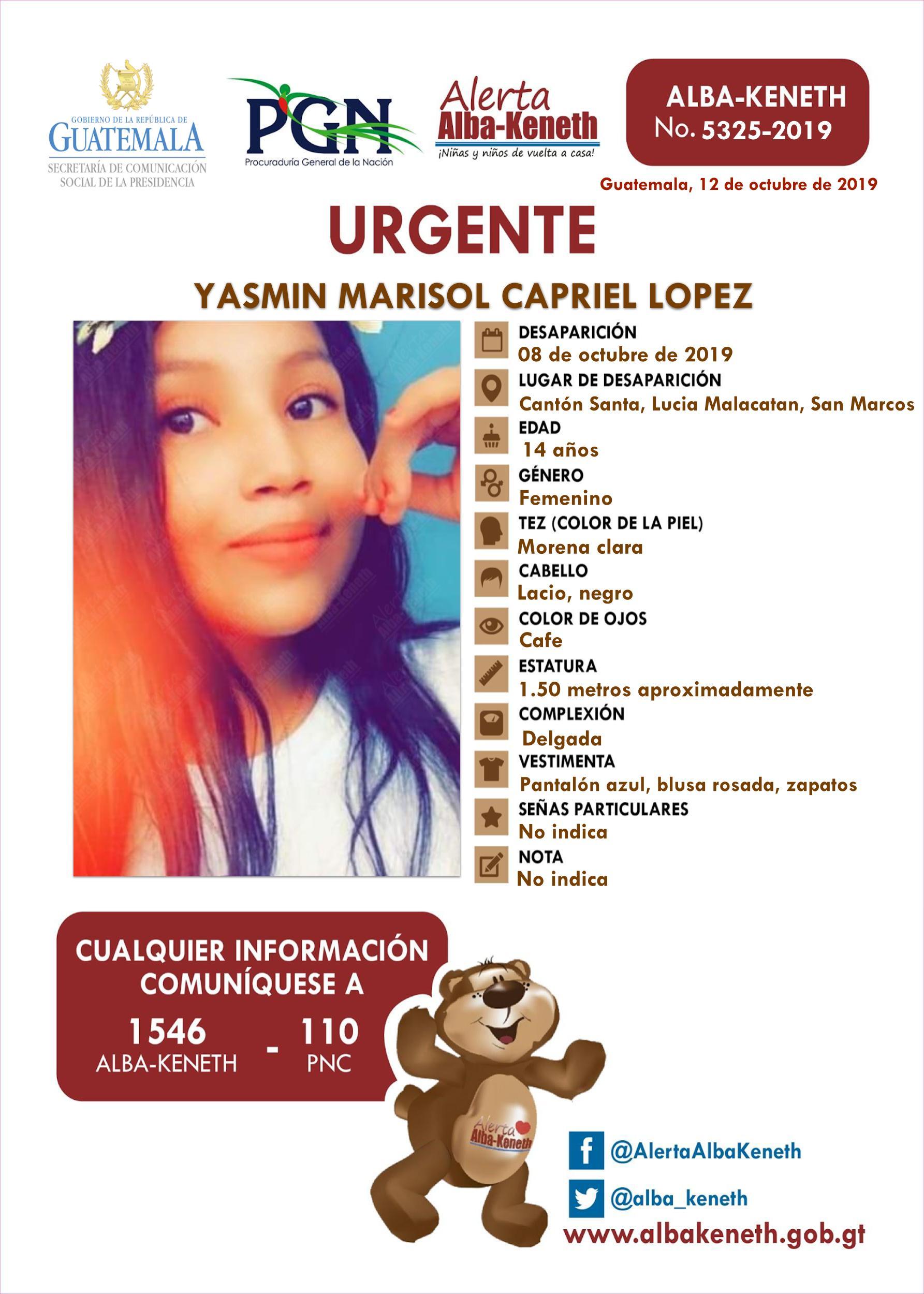 Yasmin Marisol Capriel Lopez