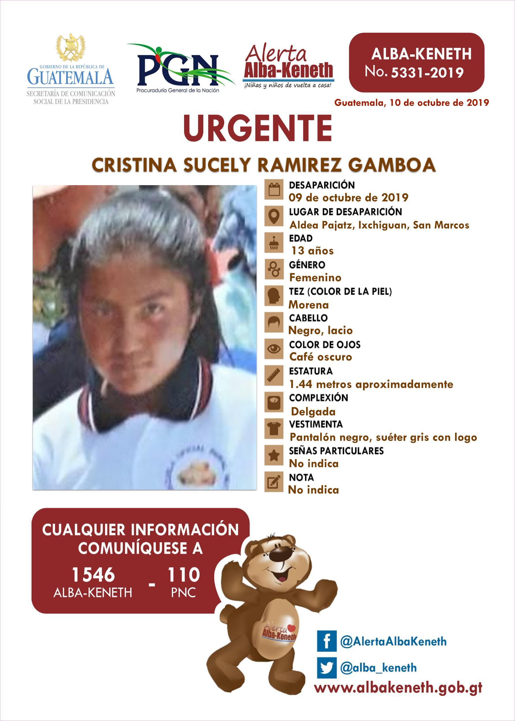 Cristina Sucely Ramirez Gamboa