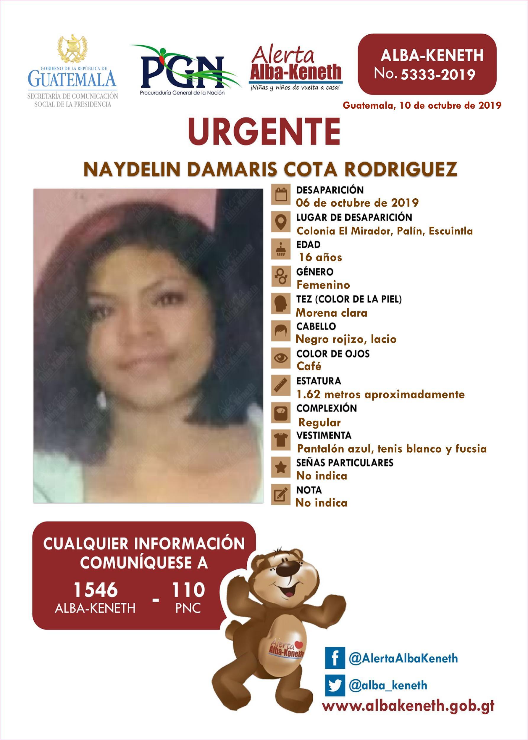 Naydelin Damaris Cota Rodriguez