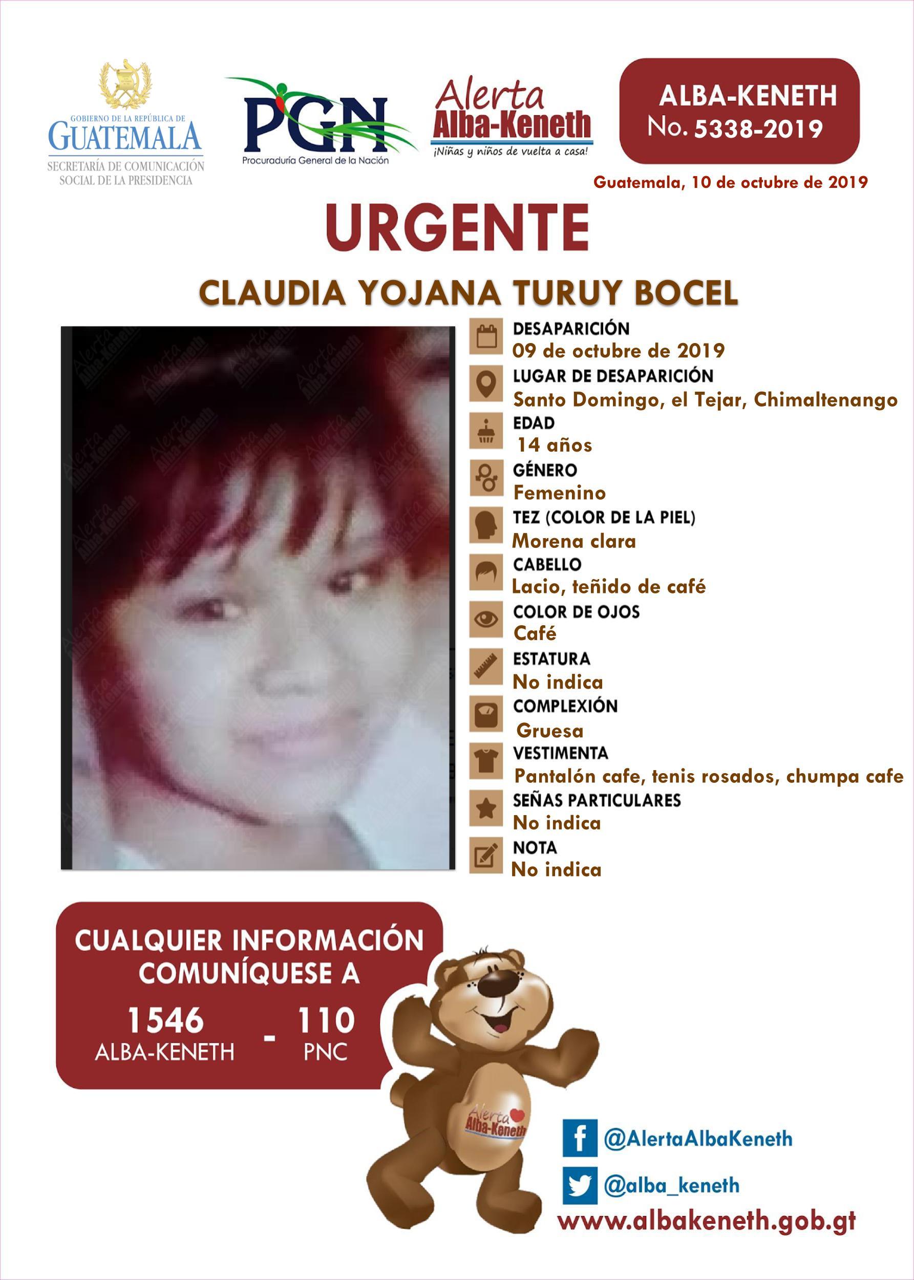 Claudia Yojana Turuy Bocel