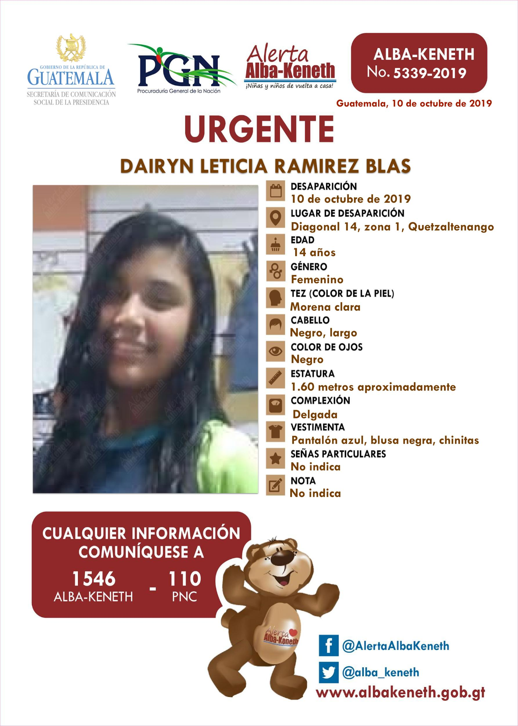 Dairyn Leticia Ramirez Blas