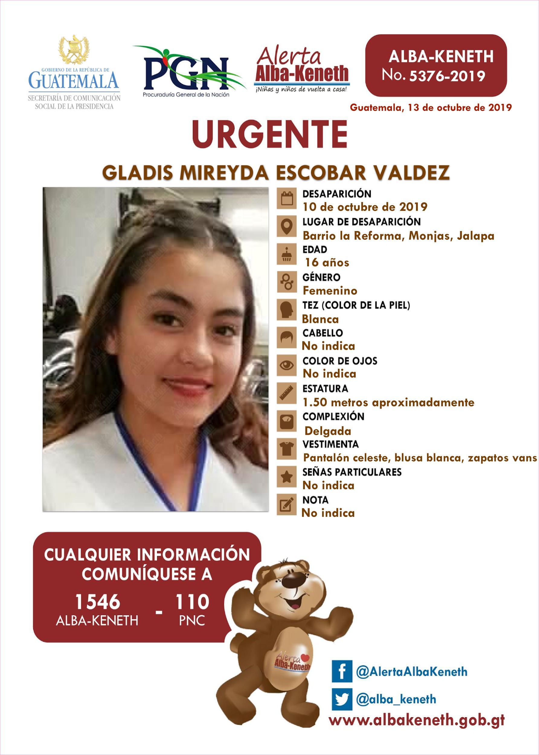 Gladis Mireyda Escobar Valdez