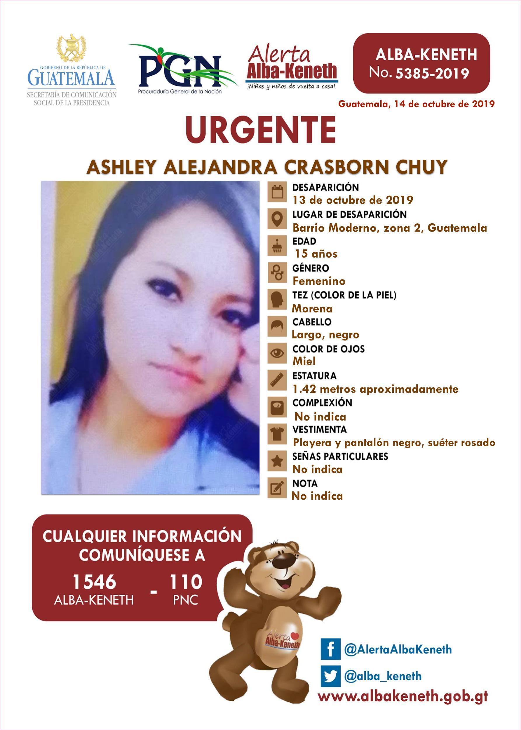 Ashley Alejandra Crasborn Chuy