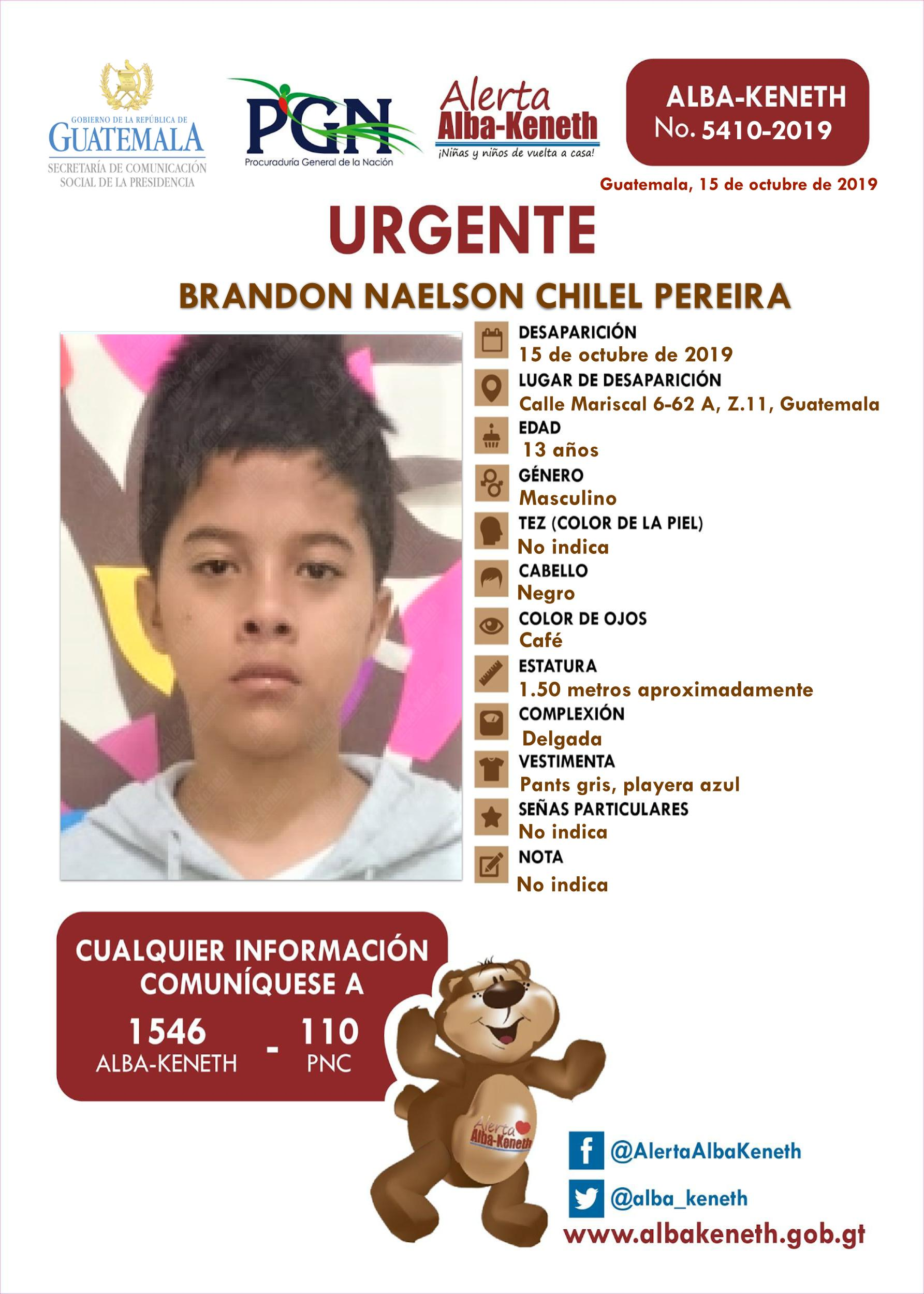 Brandon Naelson Chilel Pereira