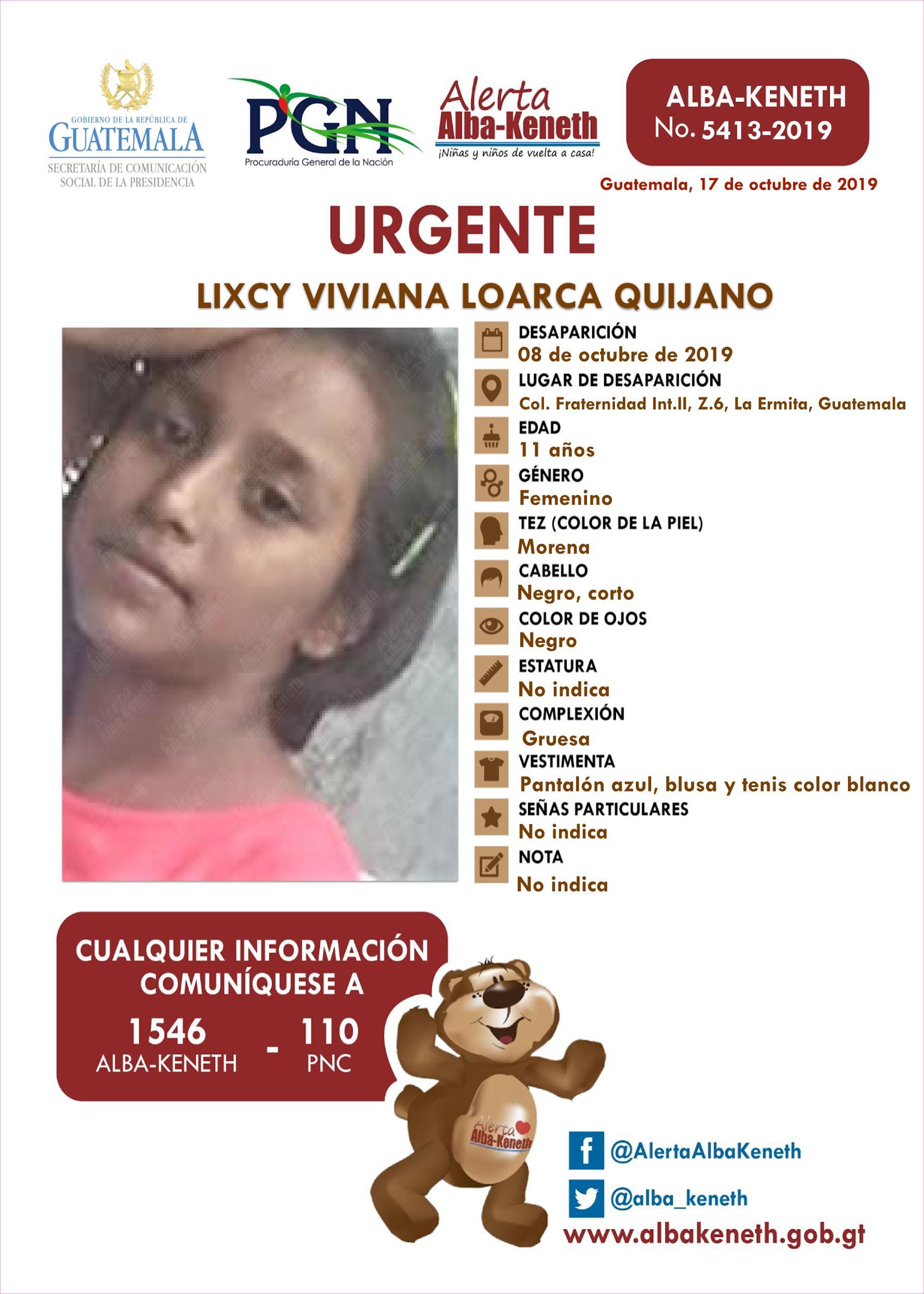 Lixcy viviana Loarca Quijano