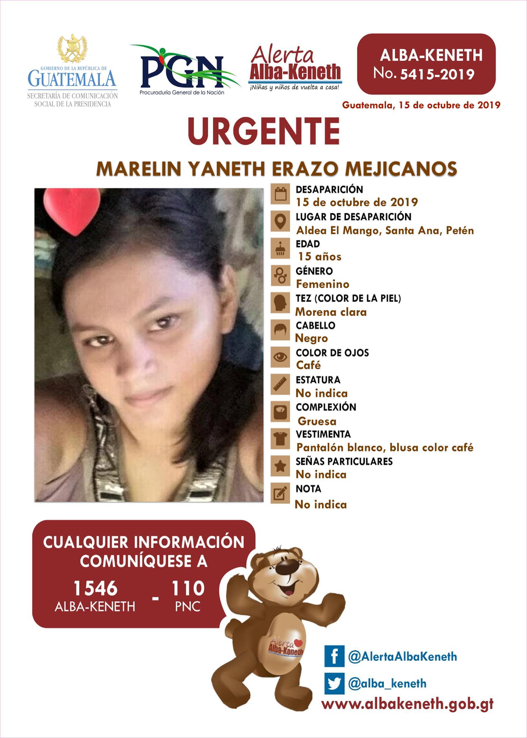 Marelin Yaneth Erazo Mejicanos