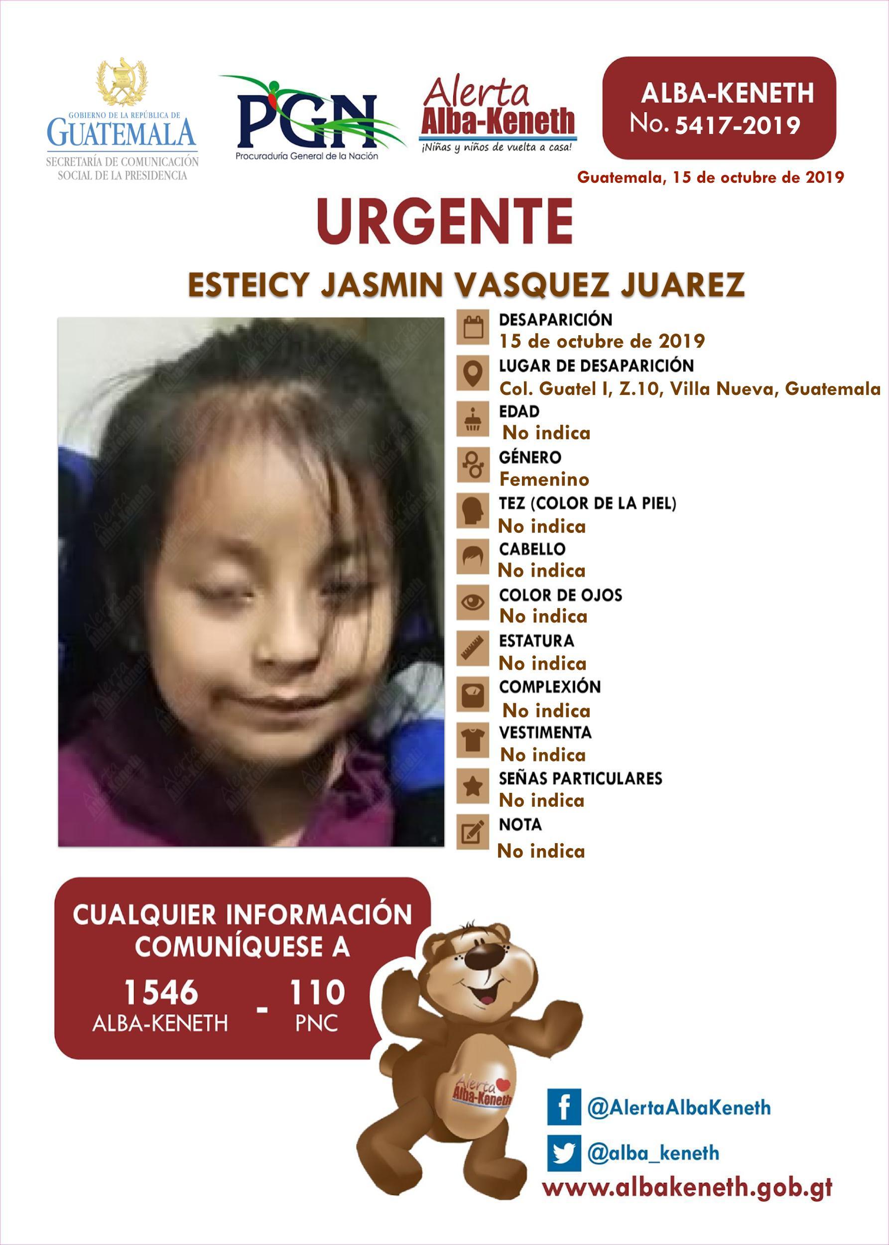 Esteicy Jasmin Vasquez Juarez