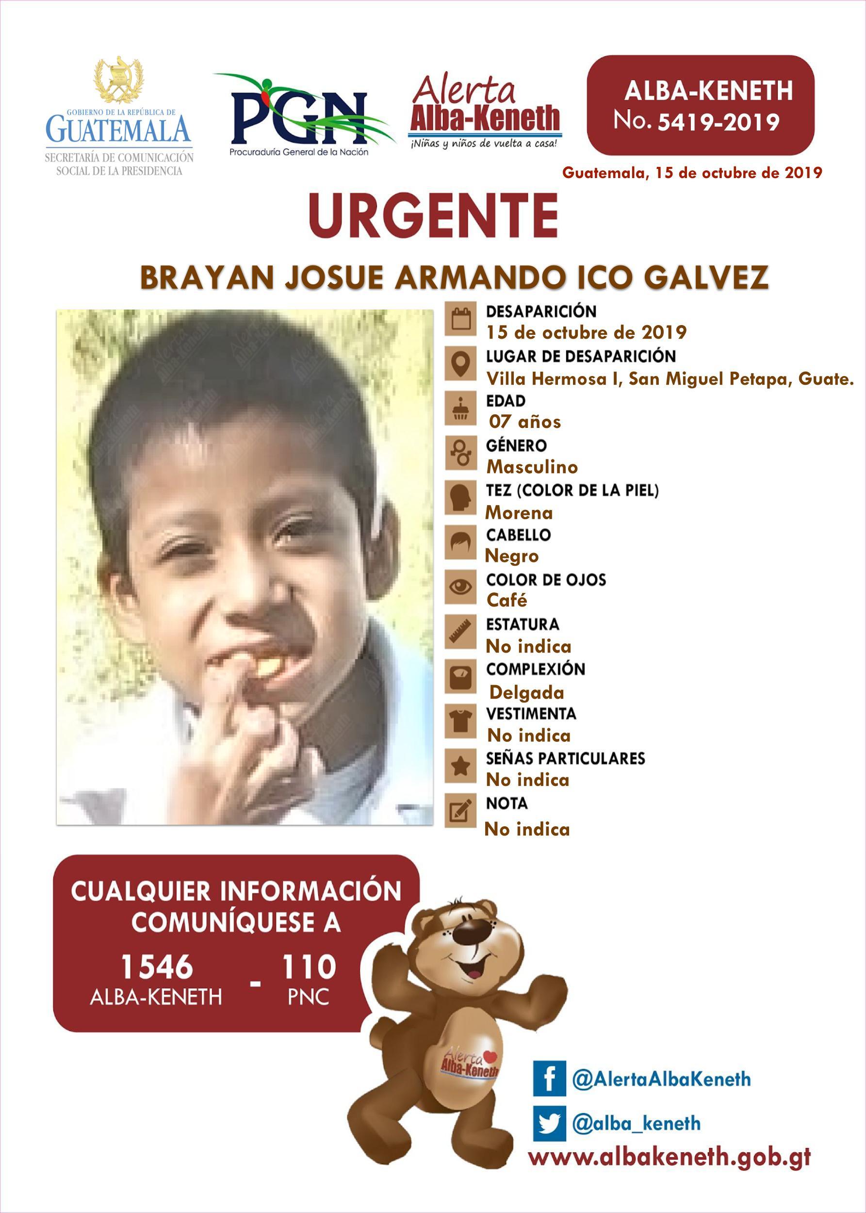 Brayan Josue Armando Ico Galvez