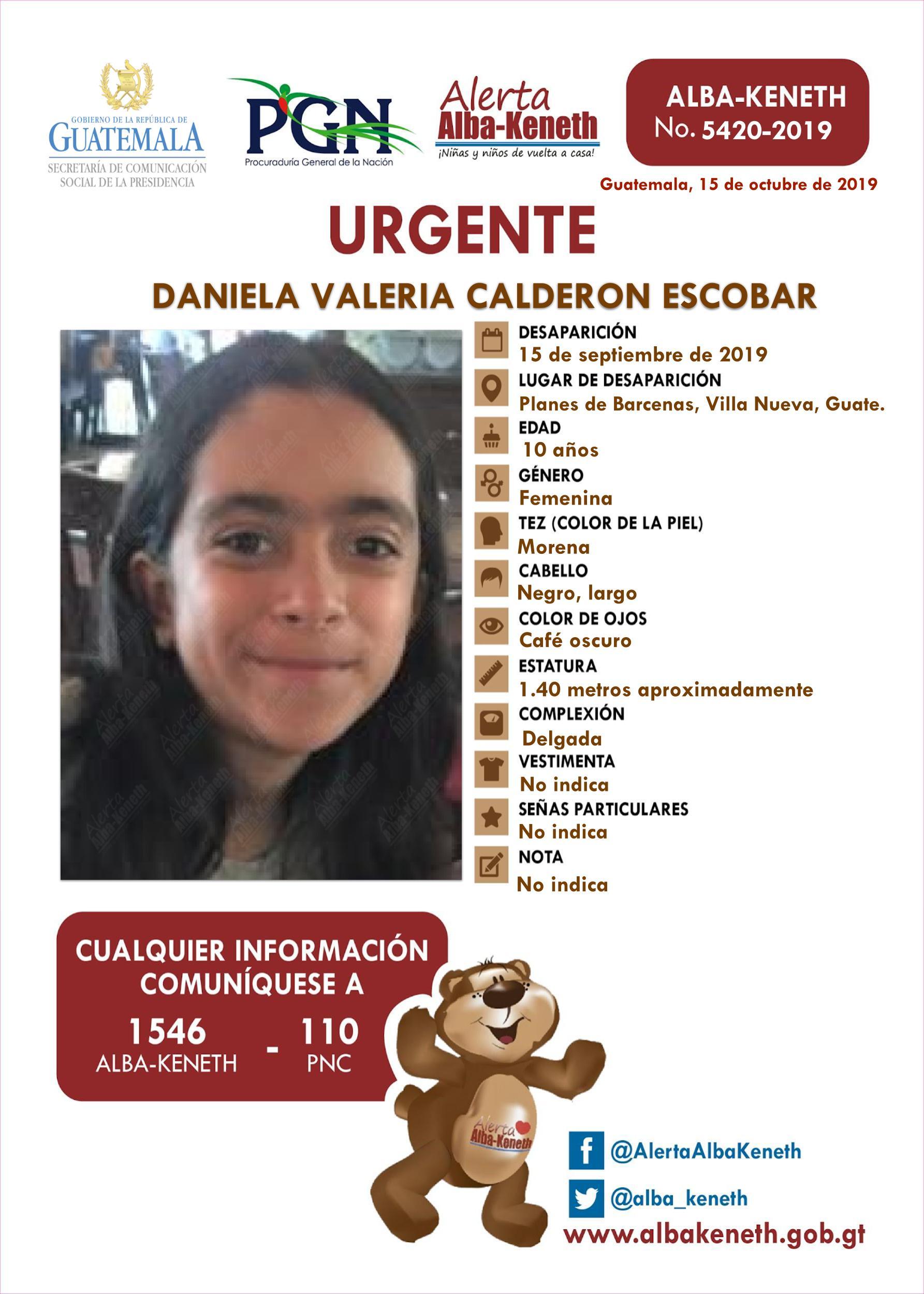 Daniela Valeria Calderon Escobar