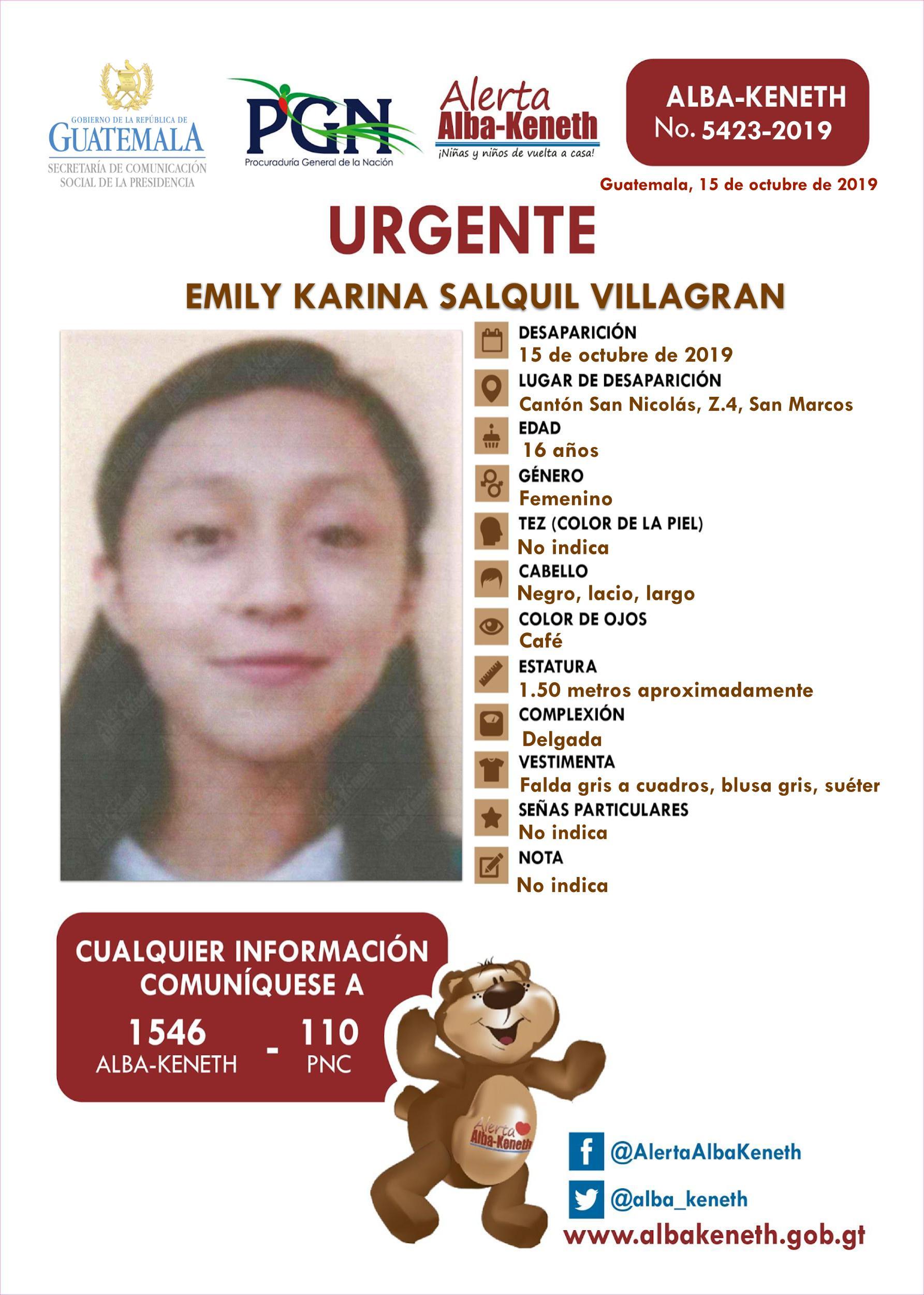 Emily Karina Salquil Villagran