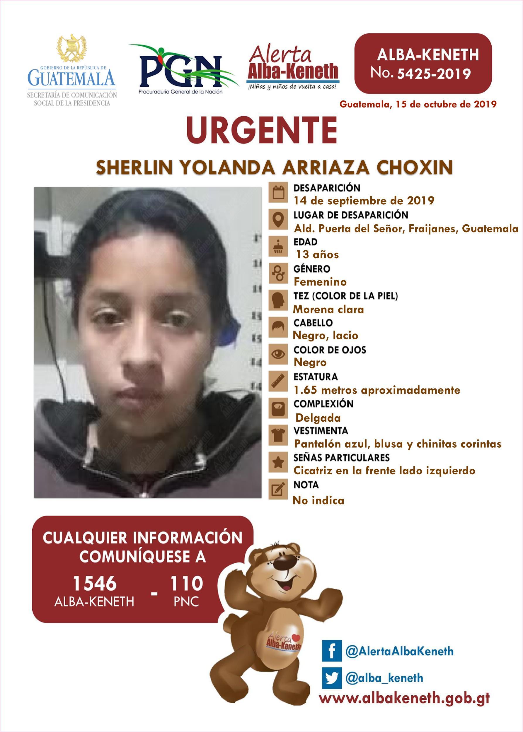 Sherlin Yolanda Arriaza Choxin