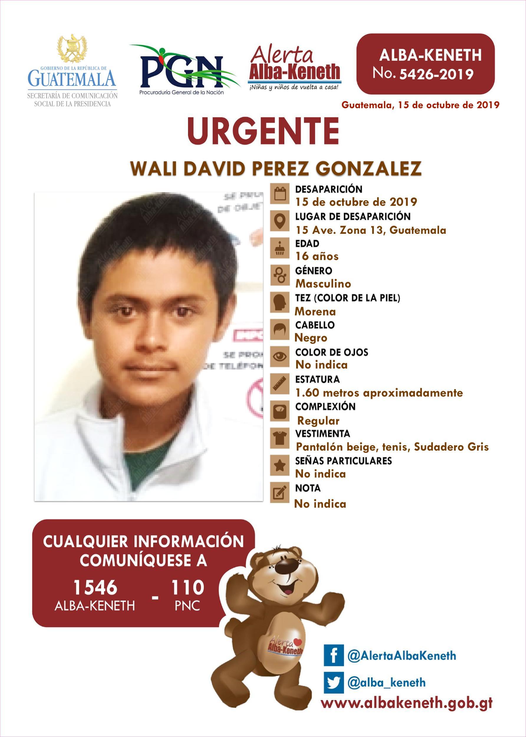 Wali David Perez Gonzalez