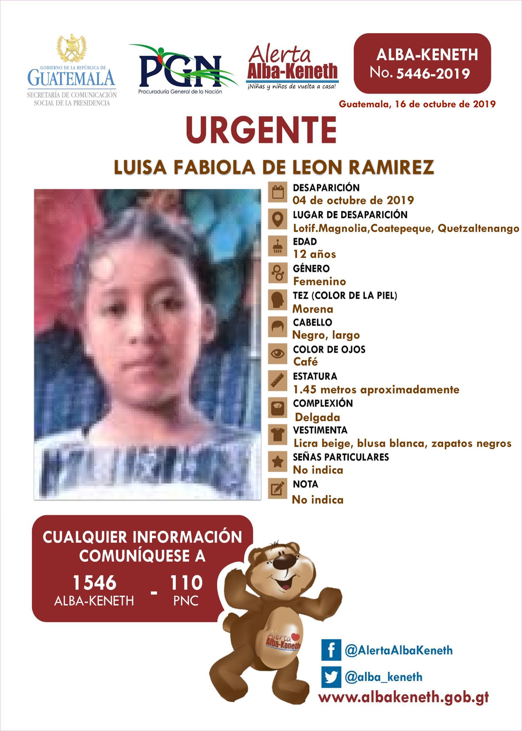 Luisa Fabiola de Leon Ramirez
