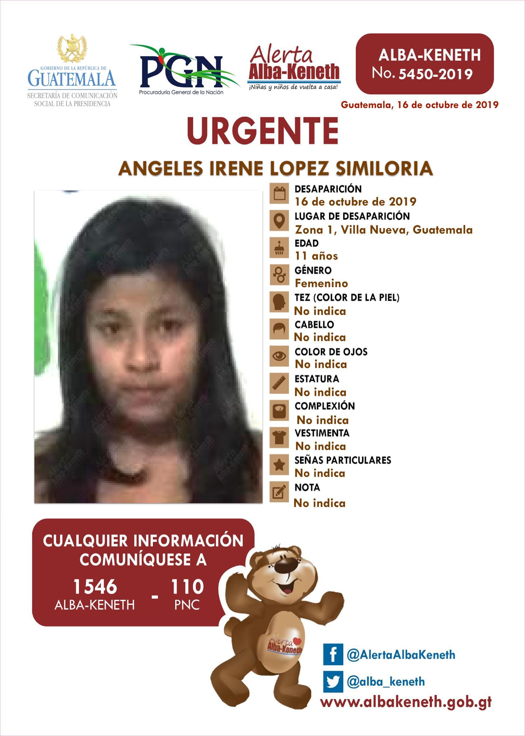 Angeles Irene Lopez Similoria