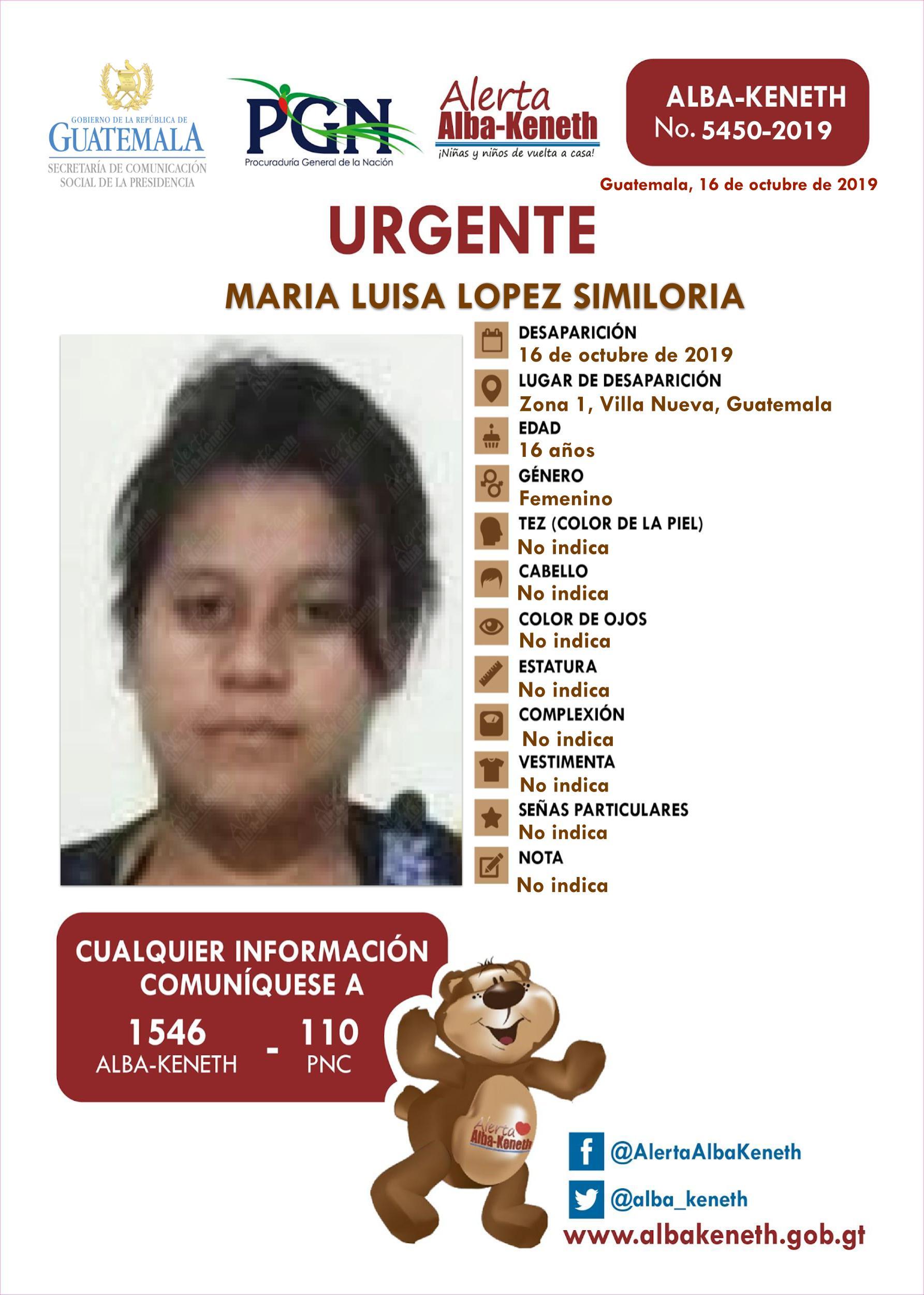 Maria Luisa Lopez Similoria
