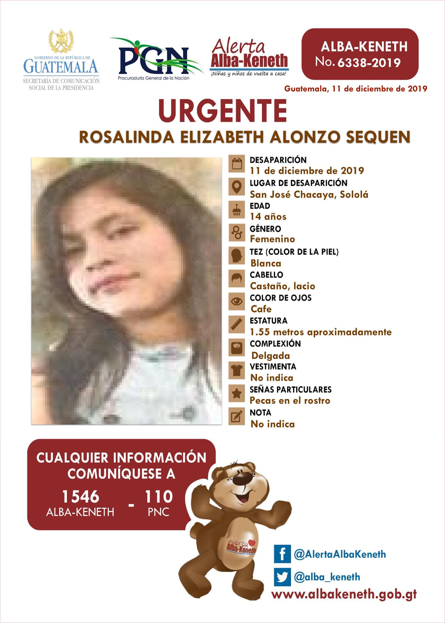 Rosalinda Elizabeth Alonzo Sequen