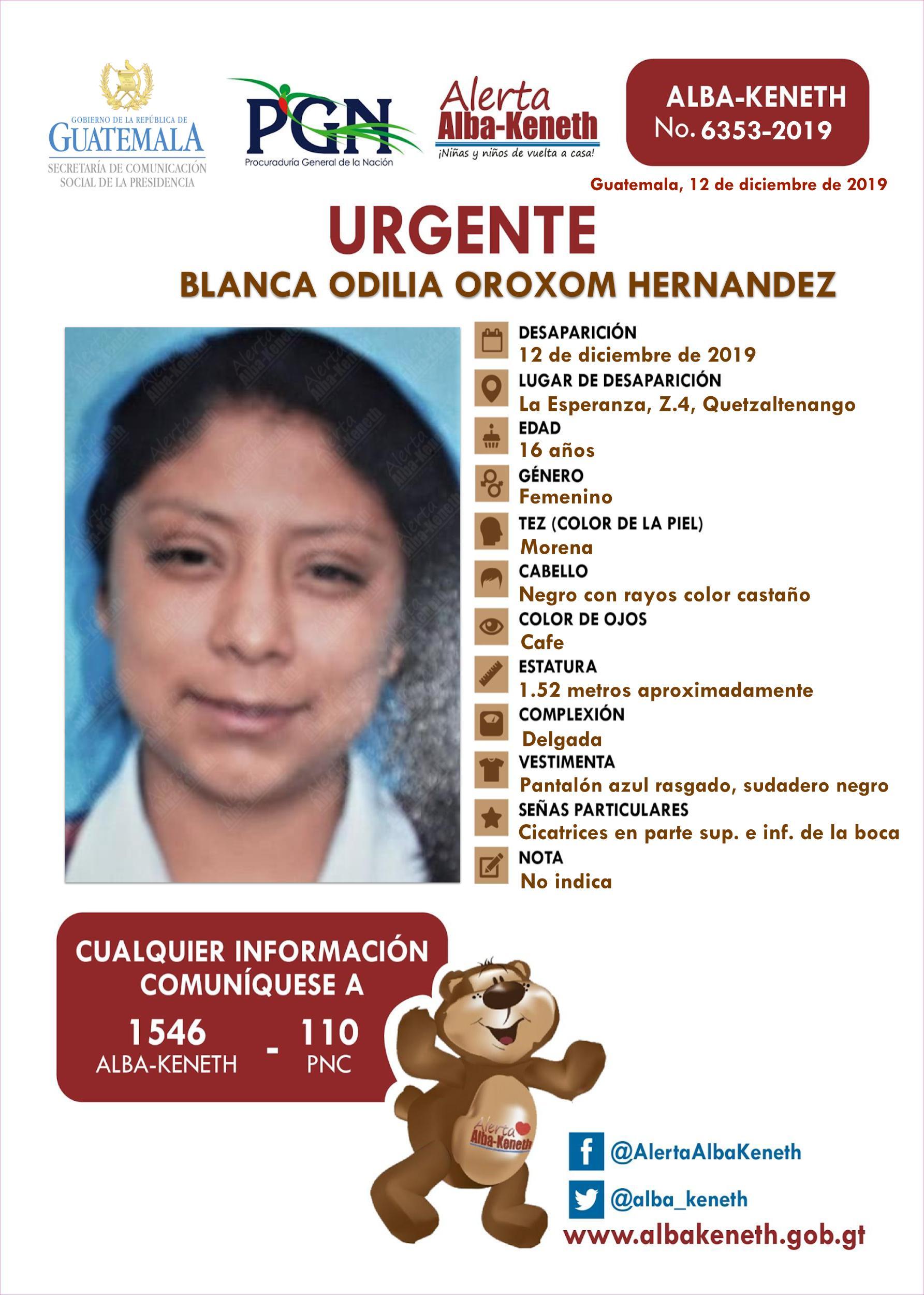 Blanca Odilia Oroxom Hernandez
