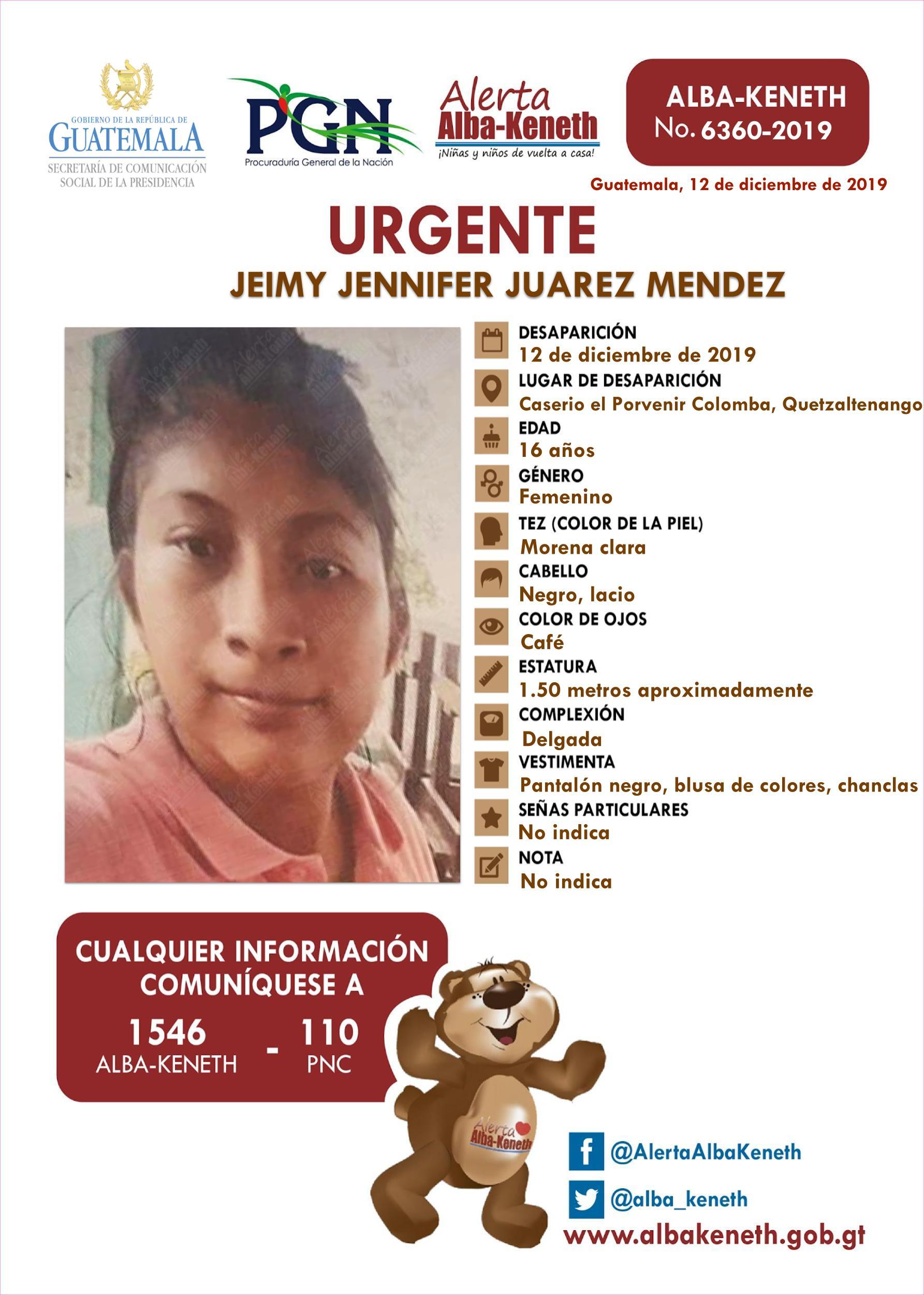 Jeimy Jennifer Juarez Mendez
